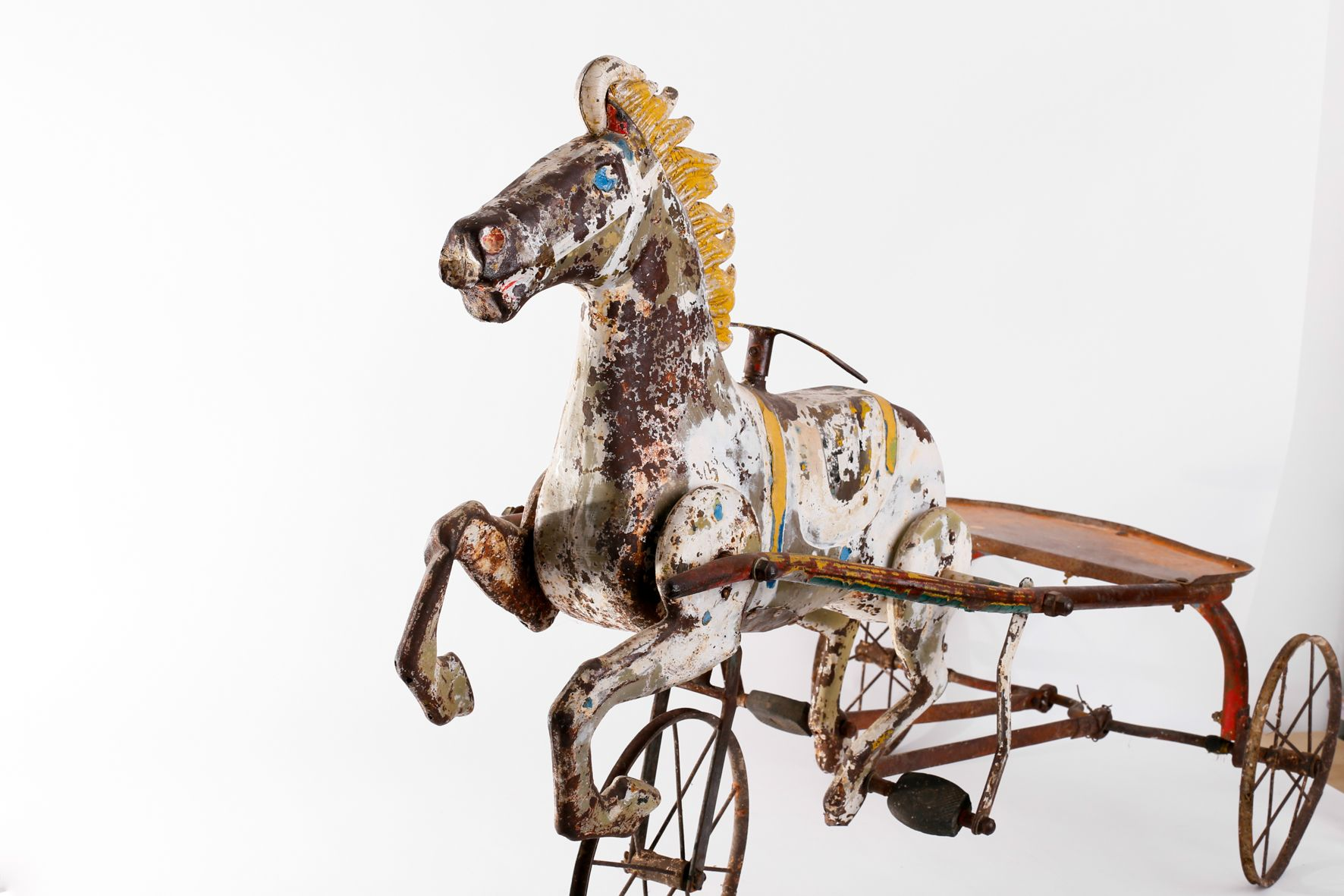 Vintage toy horse carriage 1940s for sale at pamono for Vintage horseshoes for sale