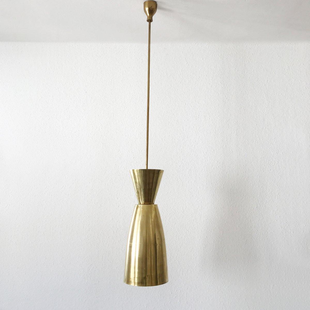 Mid-Century Large Diabolo Brass Pendant Light For Sale At