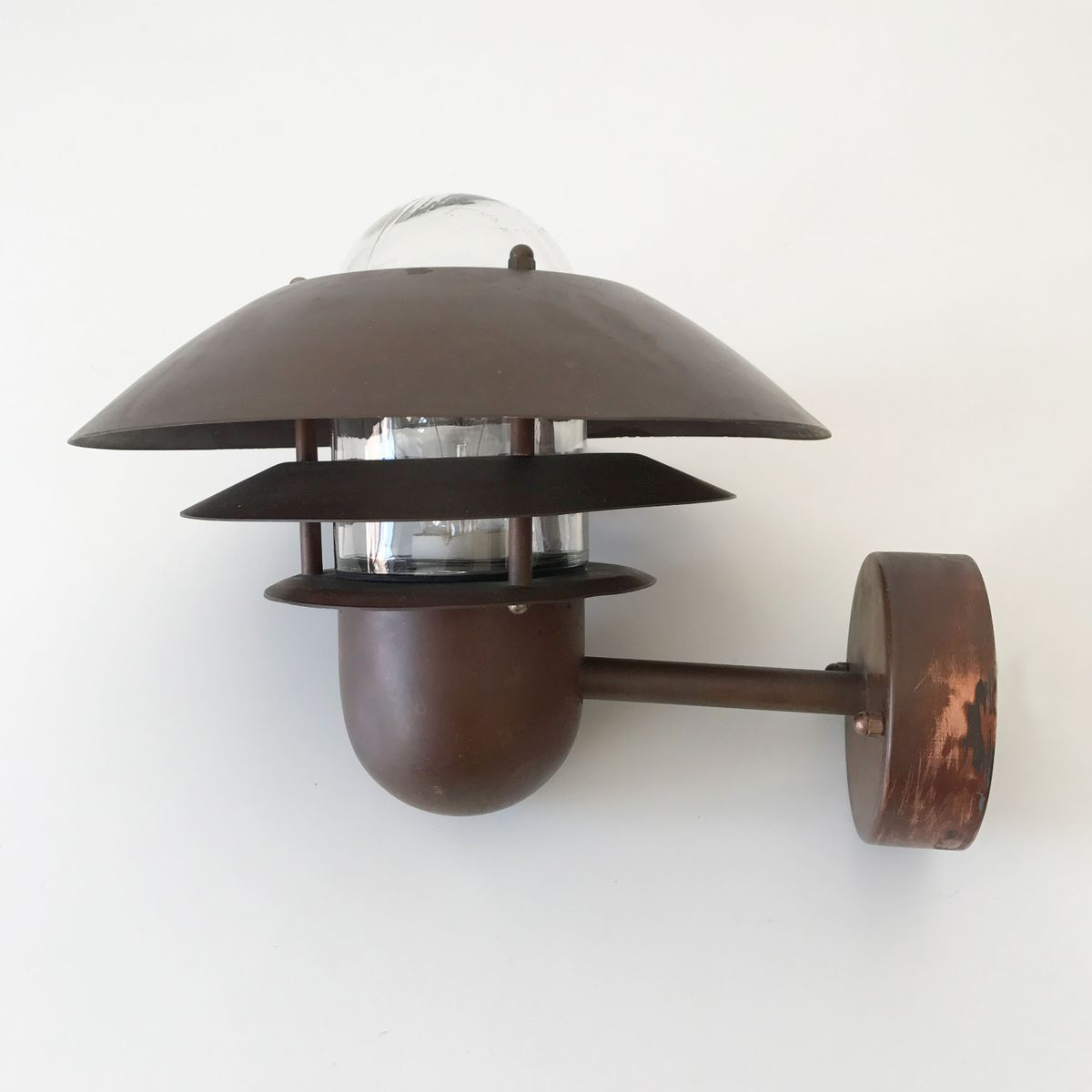 Mid Century Wall Lights Uk: Mid-Century Danish Copper Wall Lamp From Nordlux For Sale