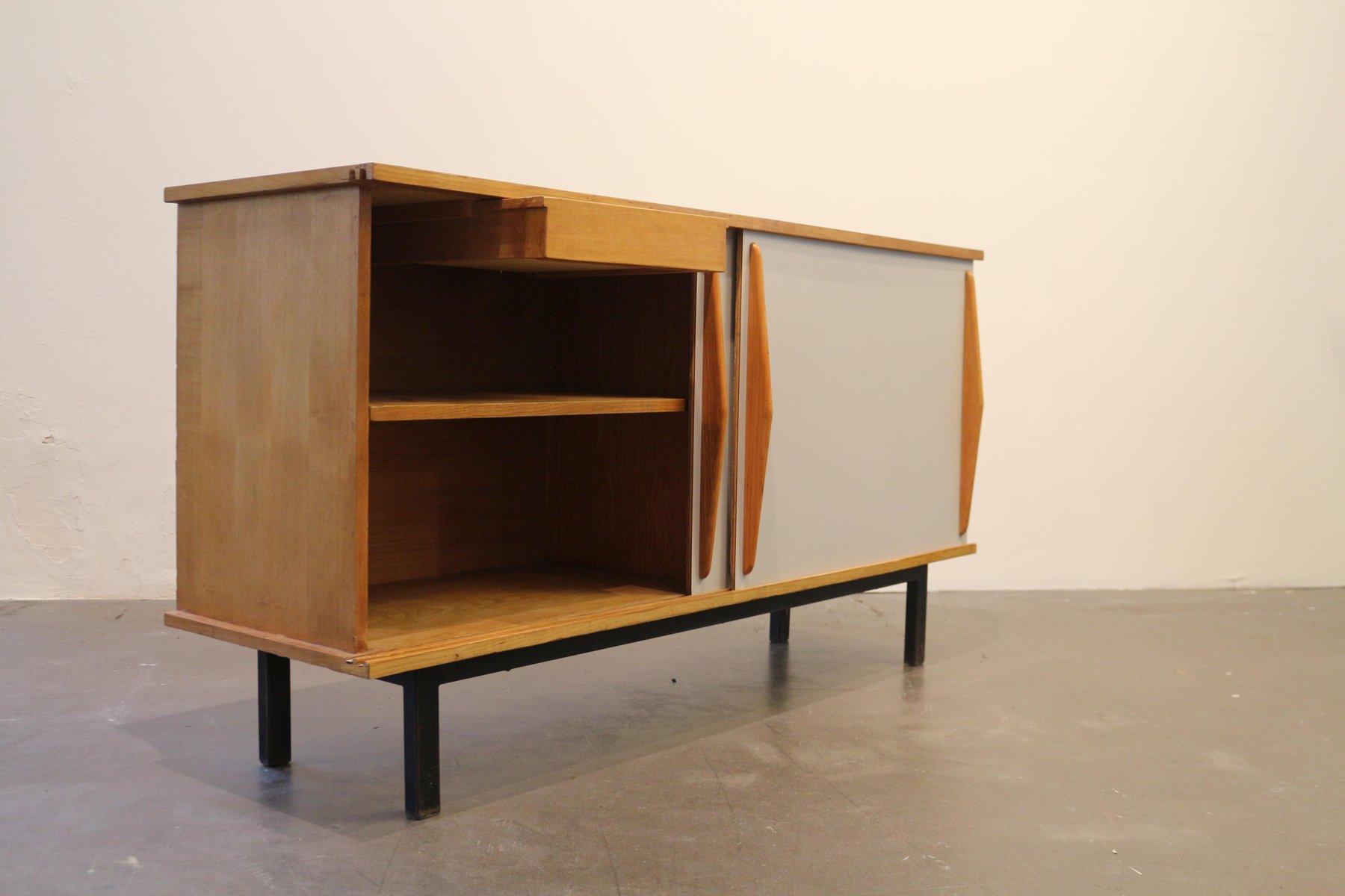 meuble mod le deux portes vintage par charlotte perriand. Black Bedroom Furniture Sets. Home Design Ideas