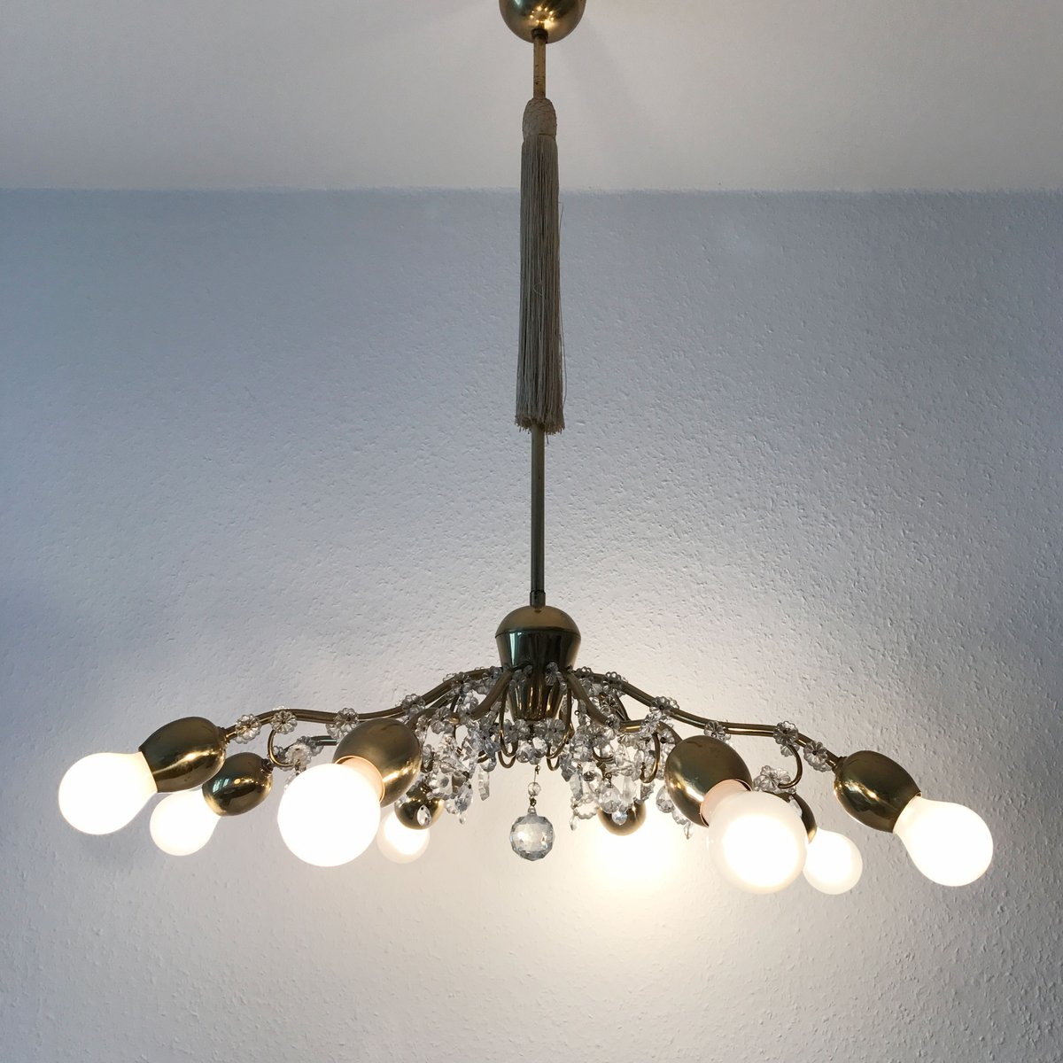 mid century modern large pendant lamp from lobmeyr for sale at pamono. Black Bedroom Furniture Sets. Home Design Ideas
