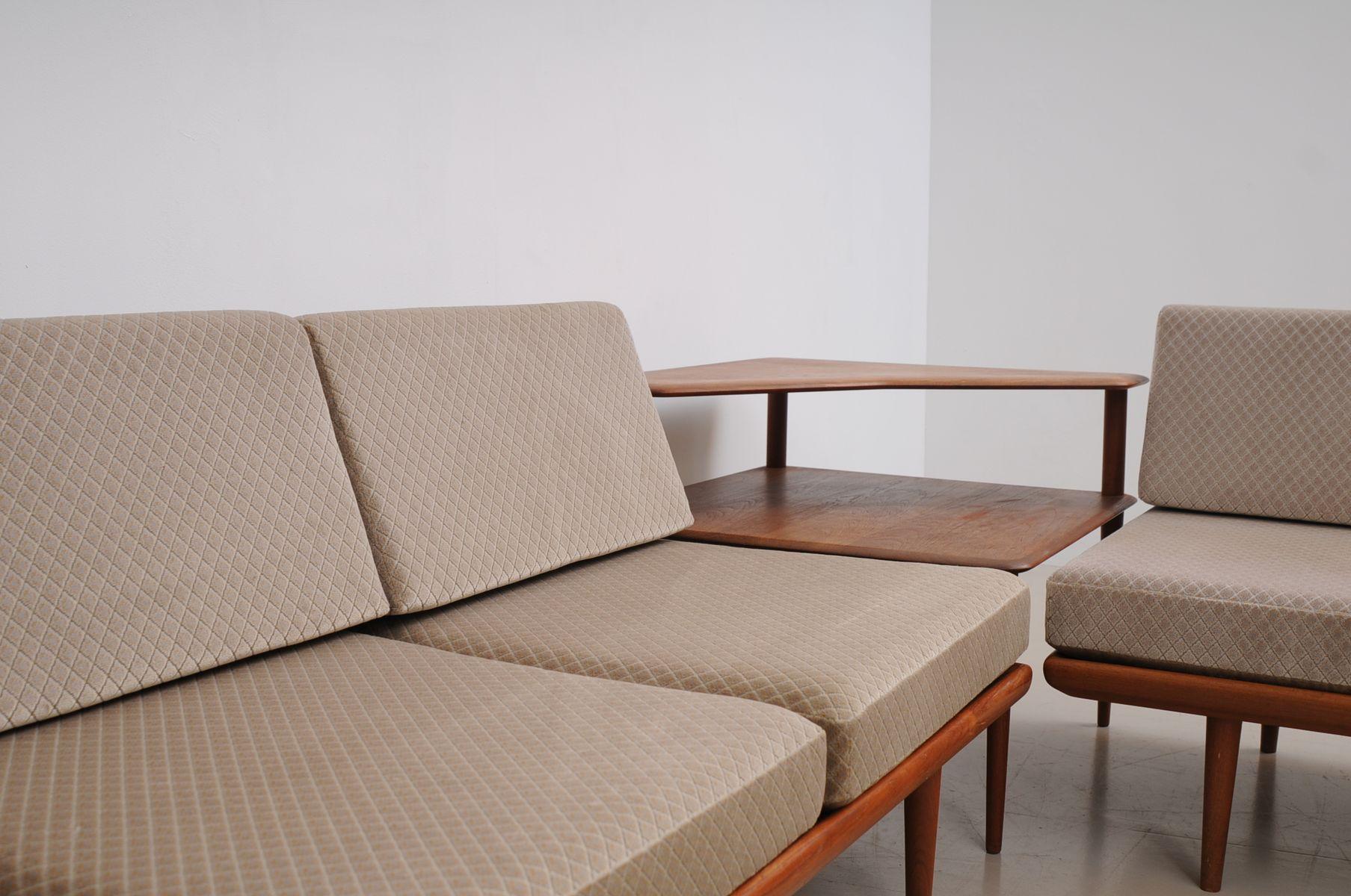 Minerva Sofa Set by Peter Hvidt & Orla M¸lgaard Nilssen for France