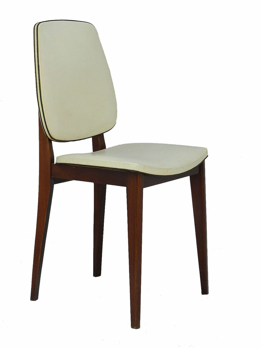 Mid century french dining chairs set of 6 for sale at pamono for Set of 6 dining chairs
