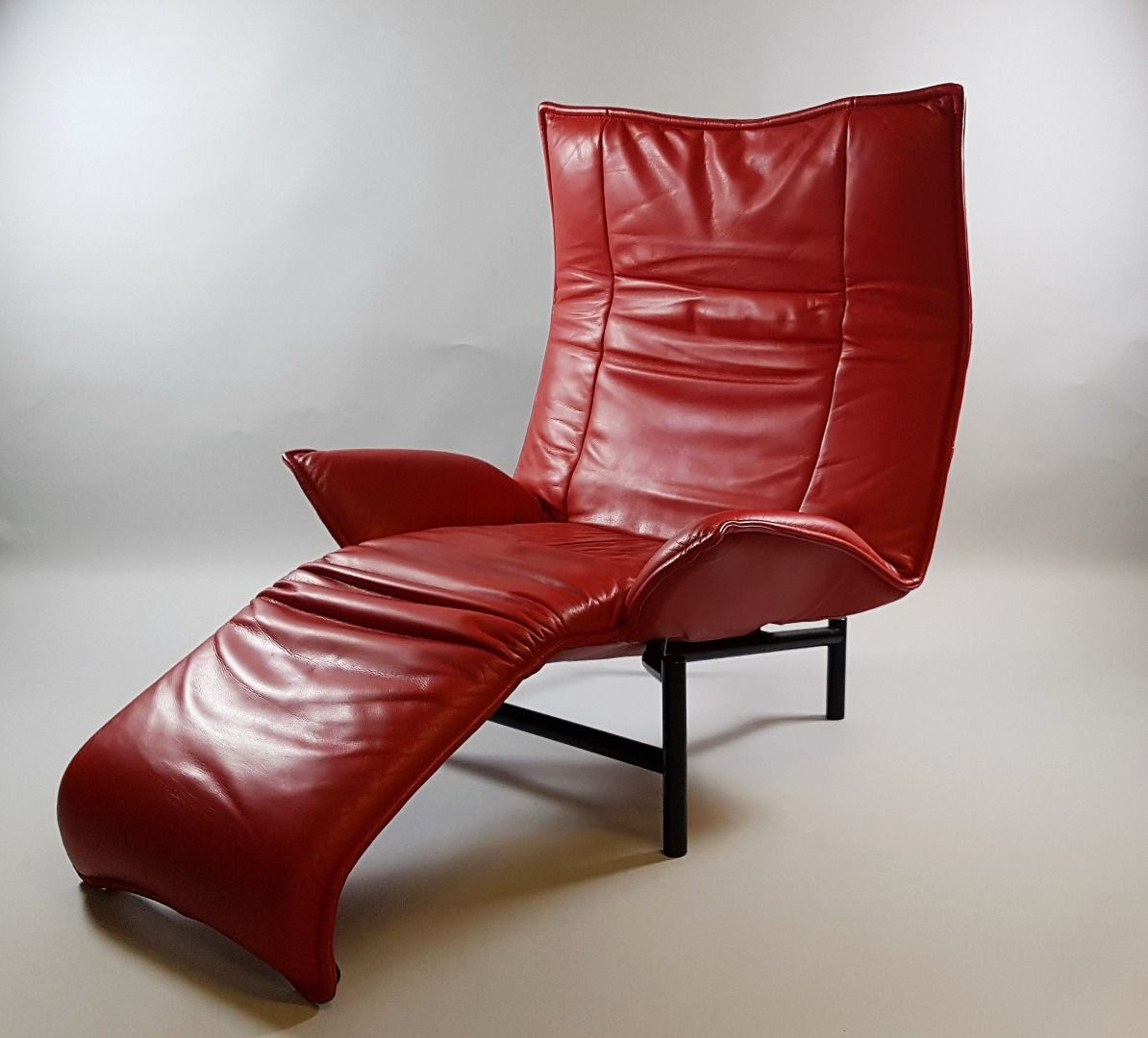 Vintage Veranda Leather Lounge Chair By Vico Magistretti