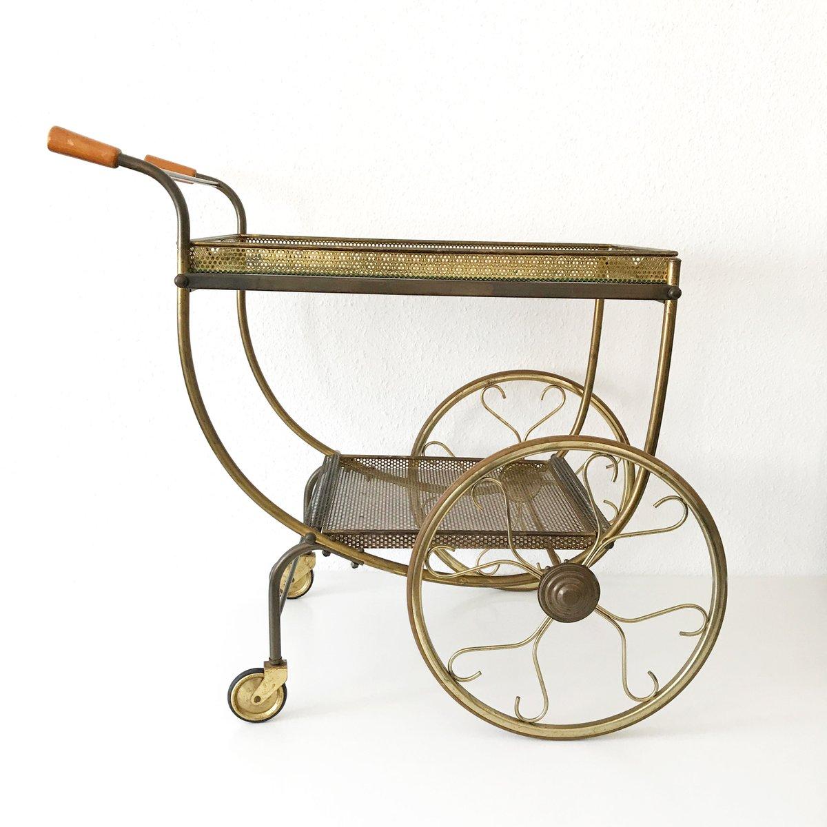 mid century modern bar cart by josef frank for svenskt tenn 1950s for sale at pamono. Black Bedroom Furniture Sets. Home Design Ideas