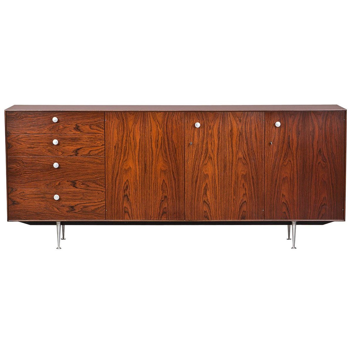 vintage rosewood credenza by george nelson for herman miller for sale at pamono. Black Bedroom Furniture Sets. Home Design Ideas