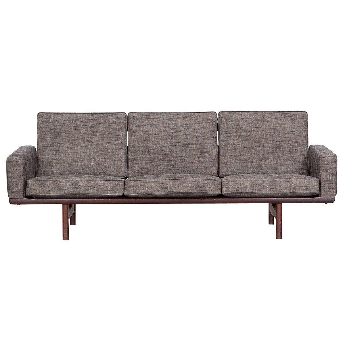vintage 3 seater sofa by hans j wegner for getama for sale at pamono. Black Bedroom Furniture Sets. Home Design Ideas