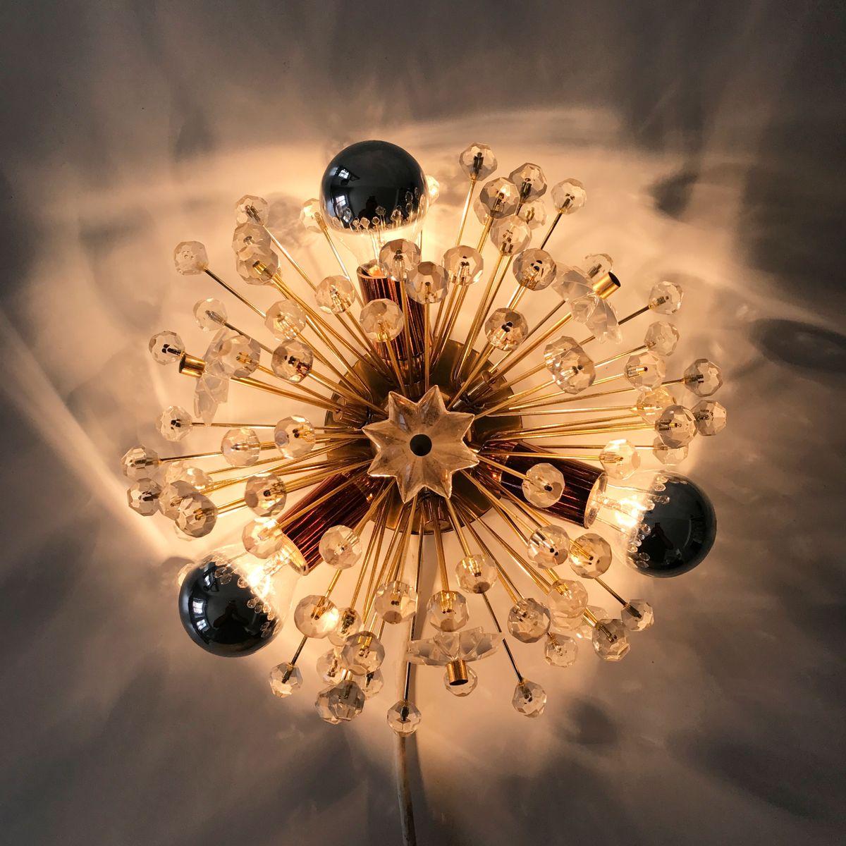 mid century pusteblume wandlampe von emil stejnar f r. Black Bedroom Furniture Sets. Home Design Ideas