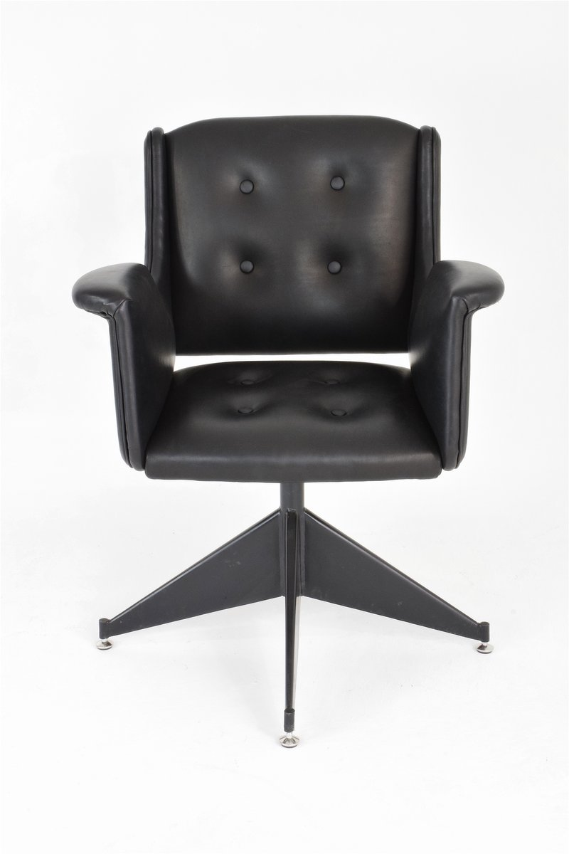 Vintage Italian Leather Office Chair For Sale At Pamono