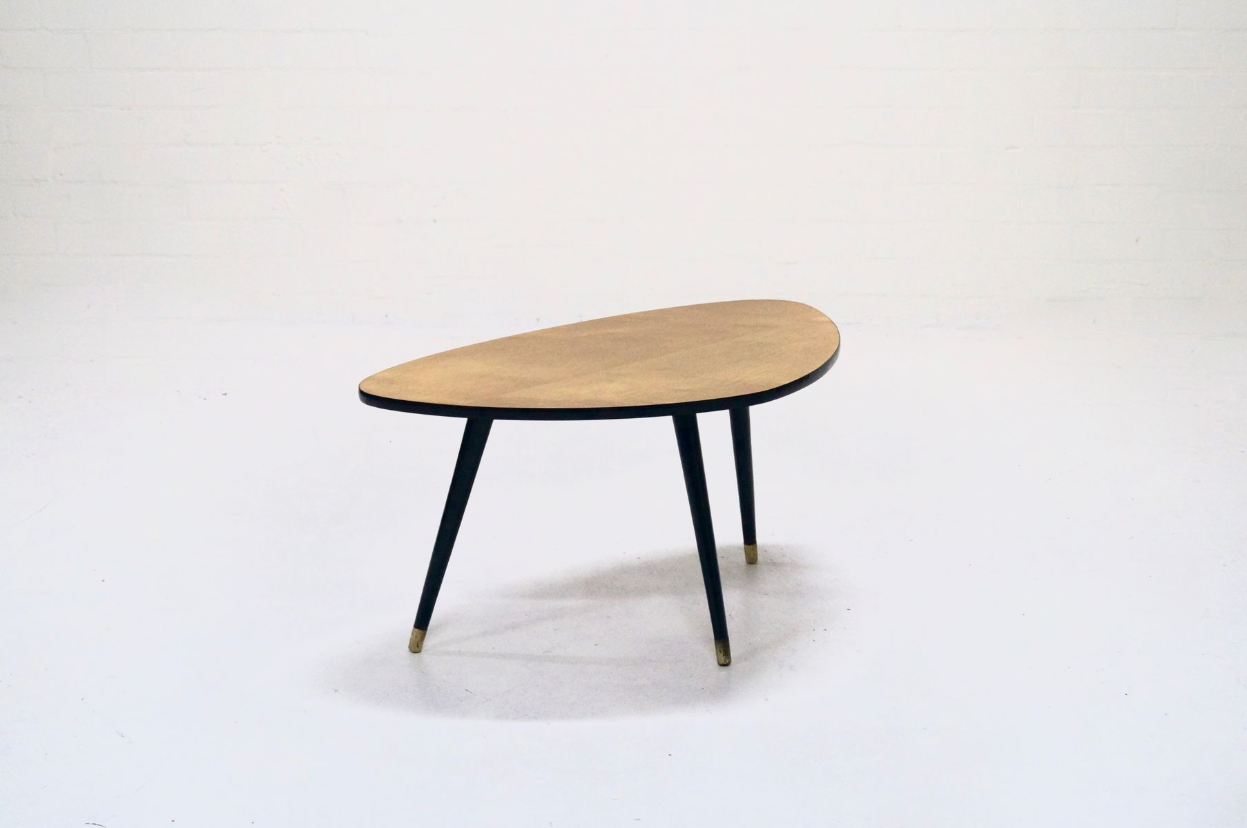 Veneer Triangular Shaped Coffee Table, 1960s