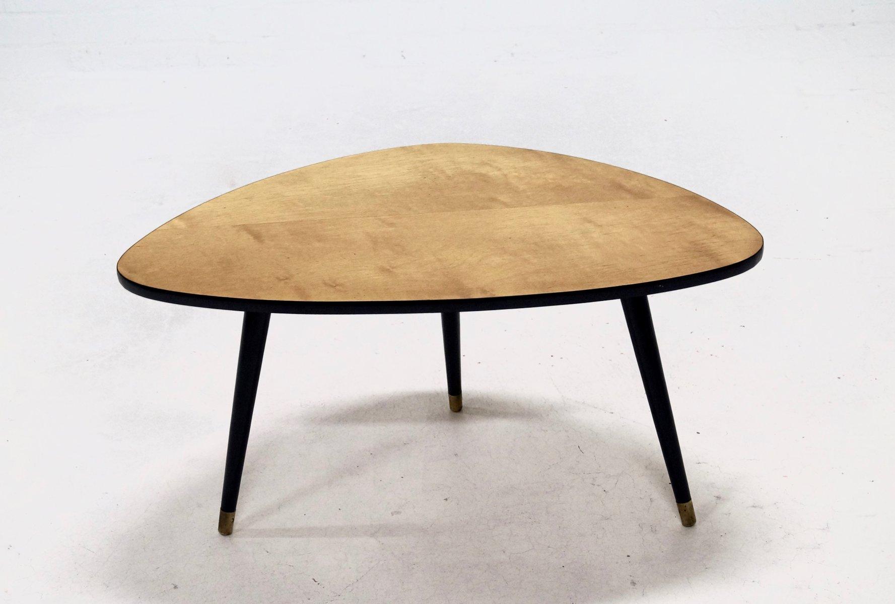 Veneer Triangular Shaped Coffee Table 1960s For Sale At Pamono