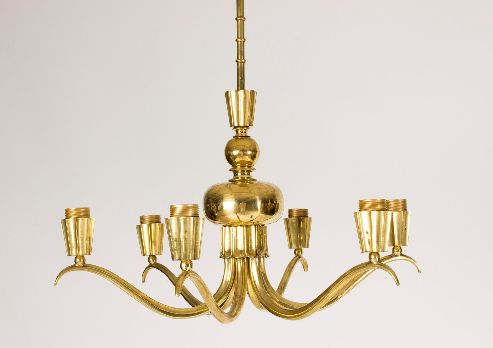 Brass Chandeliers 1940s Set Of 2 For Sale At Pamono