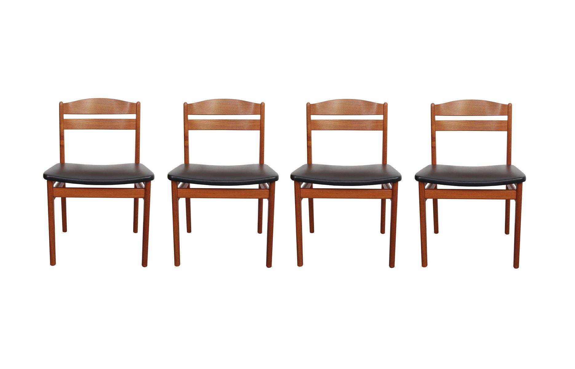 d nische st hle aus teak von b s 1960er 4er set bei pamono kaufen. Black Bedroom Furniture Sets. Home Design Ideas