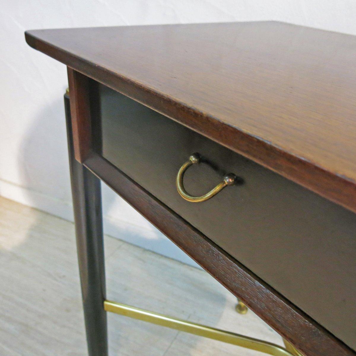 schreibtisch aus holz messing von g plan e gomme. Black Bedroom Furniture Sets. Home Design Ideas