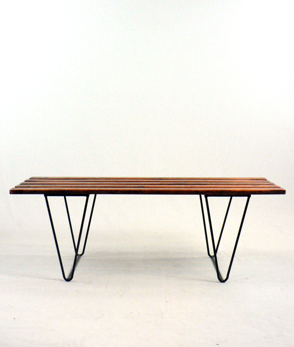Slat Coffee Table Or Bench 1950s For Sale At Pamono