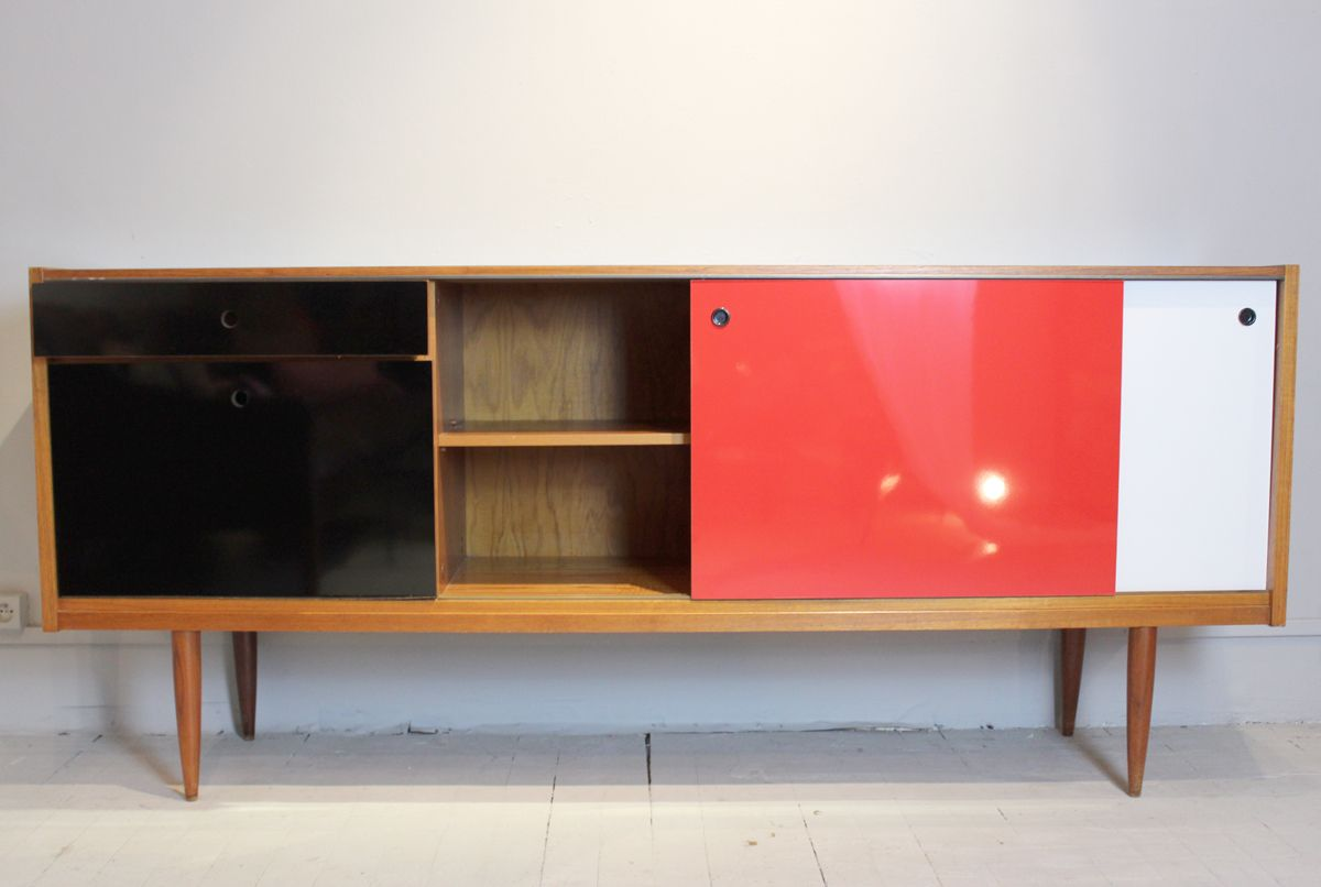 french teak enfilade 1960s for sale at pamono. Black Bedroom Furniture Sets. Home Design Ideas