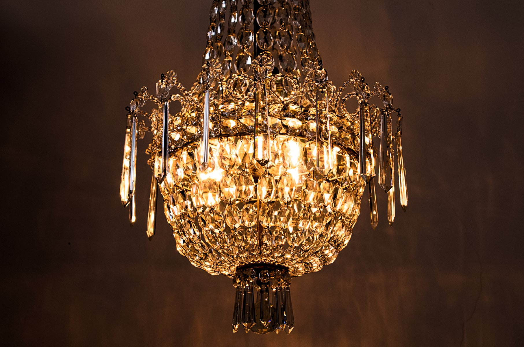 Crystal Chandelier 1920s For Sale At Pamono