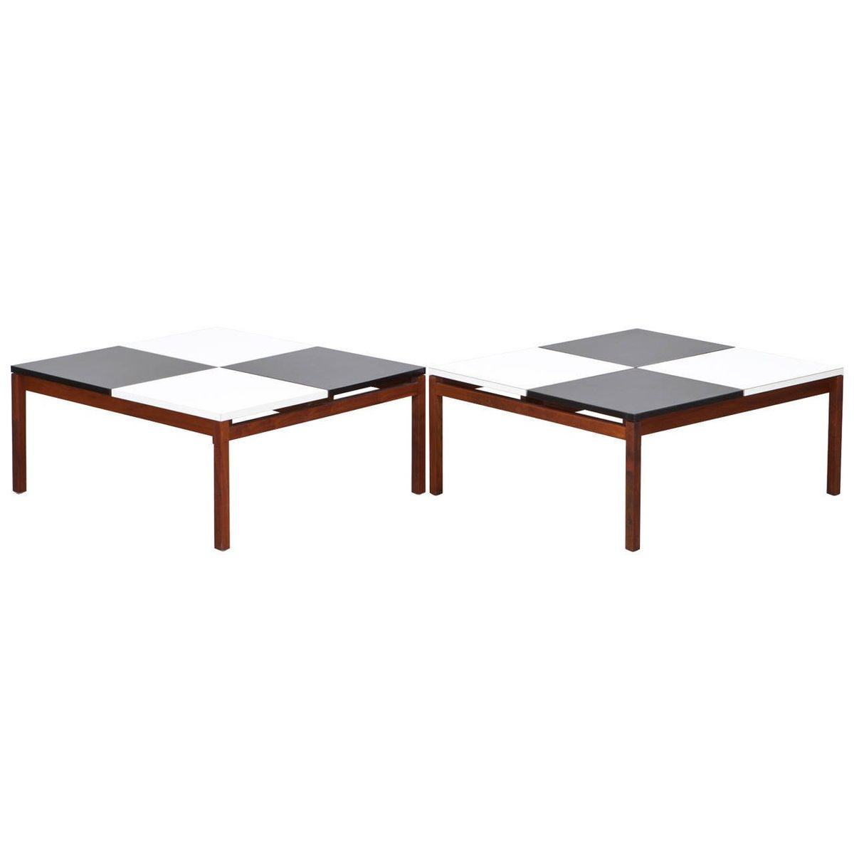 Vintage Black White Coffee Table By Louis Butler For Knoll International For Sale At Pamono
