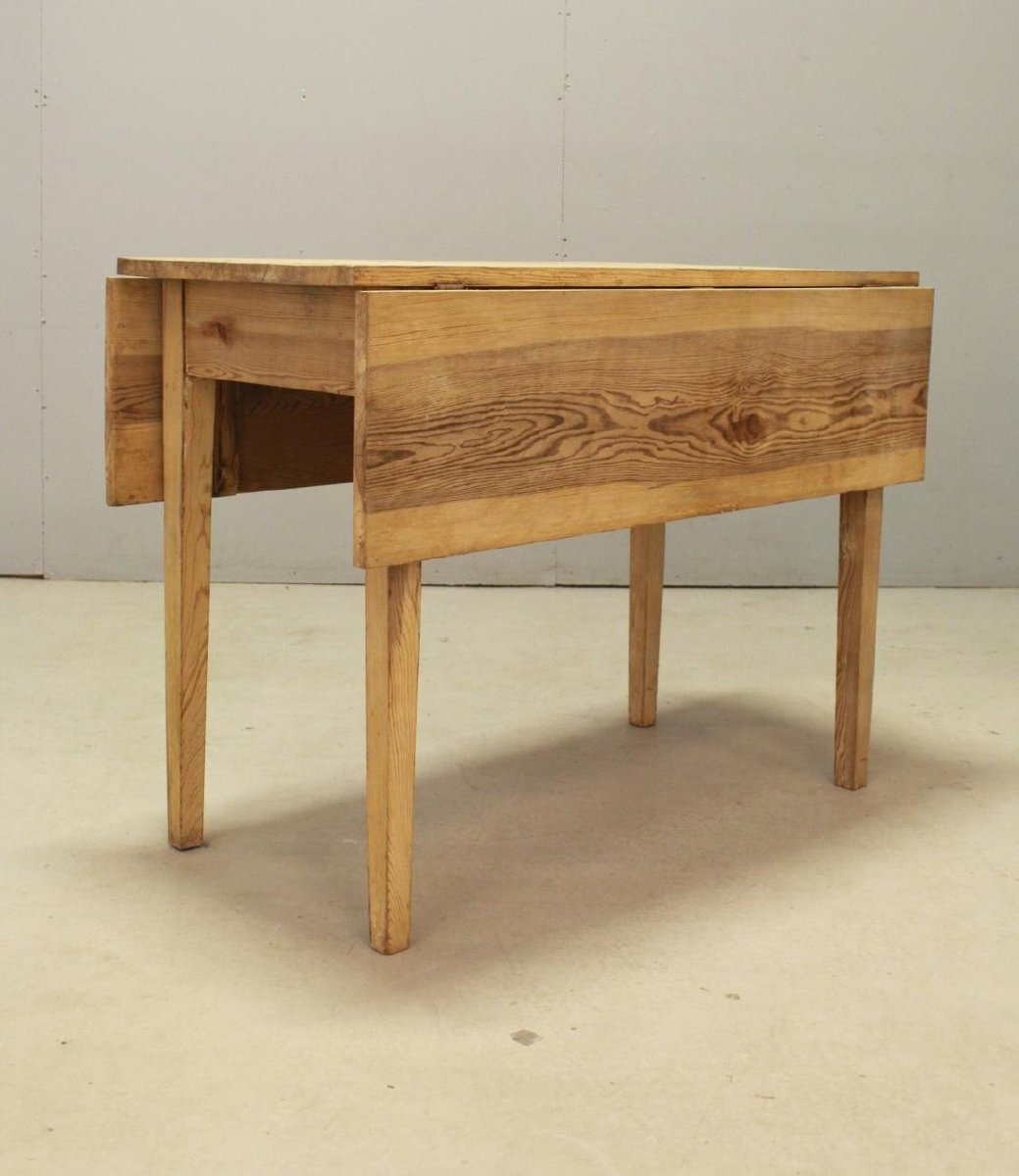 Swedish Vintage Drop Leaf Table In Pine For Sale At Pamono