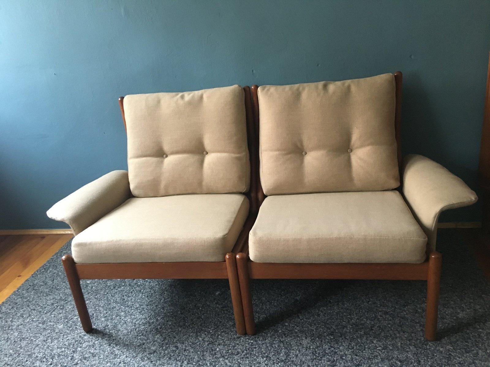 modulares d nisches teak sofa von niels bach 1960er bei. Black Bedroom Furniture Sets. Home Design Ideas