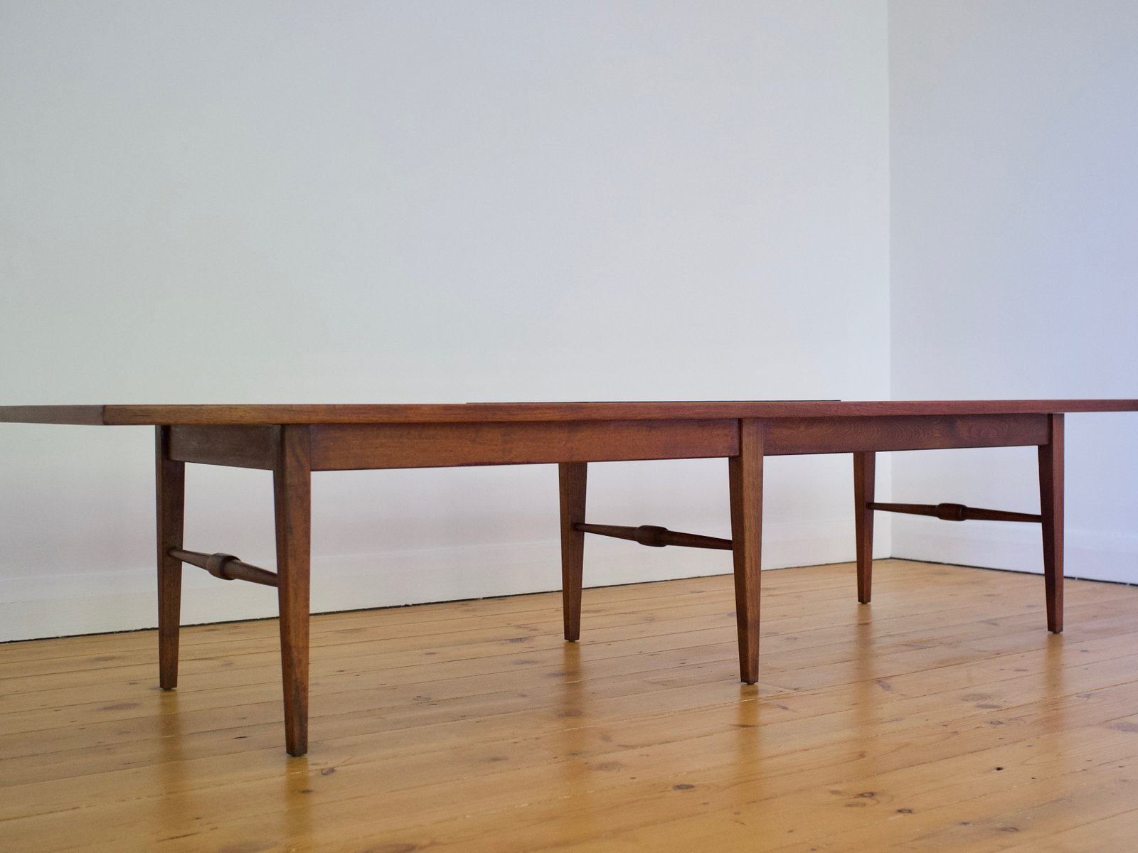 Long and low walnut coffee table 1960s for sale at pamono long and low walnut coffee table 1960s geotapseo Choice Image