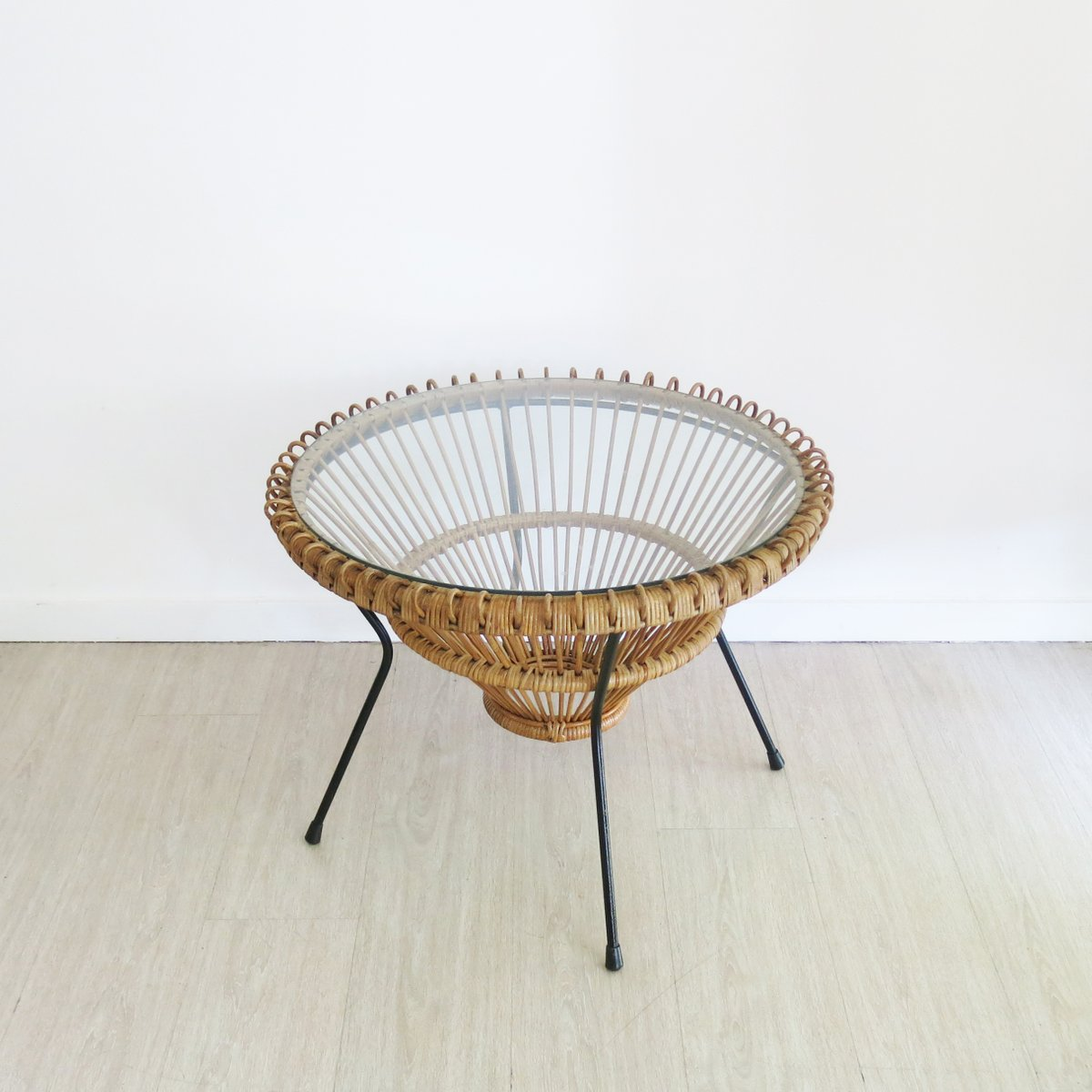 Rattan coffee table by franco albini 1950s for sale at pamono rattan coffee table by franco albini 1950s geotapseo Images