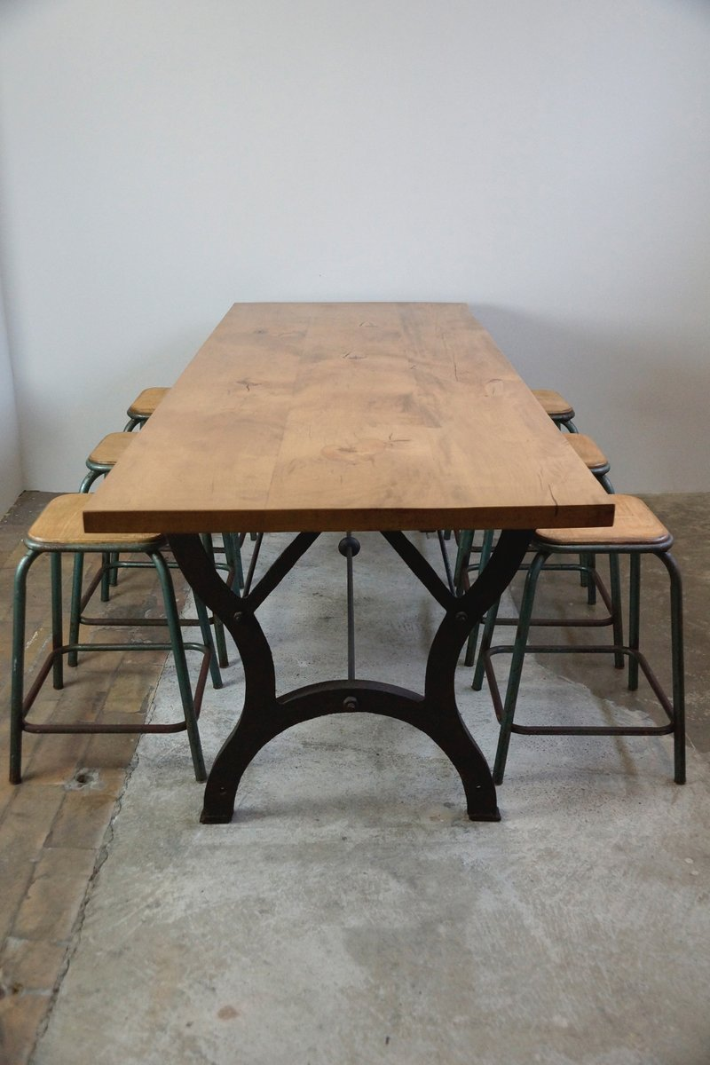 Vintage Industrial Dining Table for sale at Pamono : vintage industrial dining table 4 from www.pamono.com size 800 x 1200 jpeg 77kB
