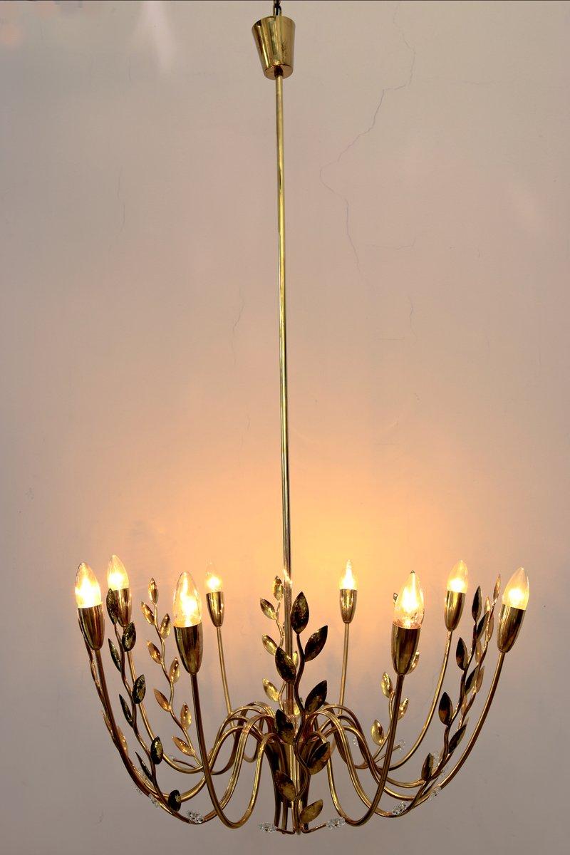 kronleuchter mit acht leuchten geschlagenen bl ttern. Black Bedroom Furniture Sets. Home Design Ideas