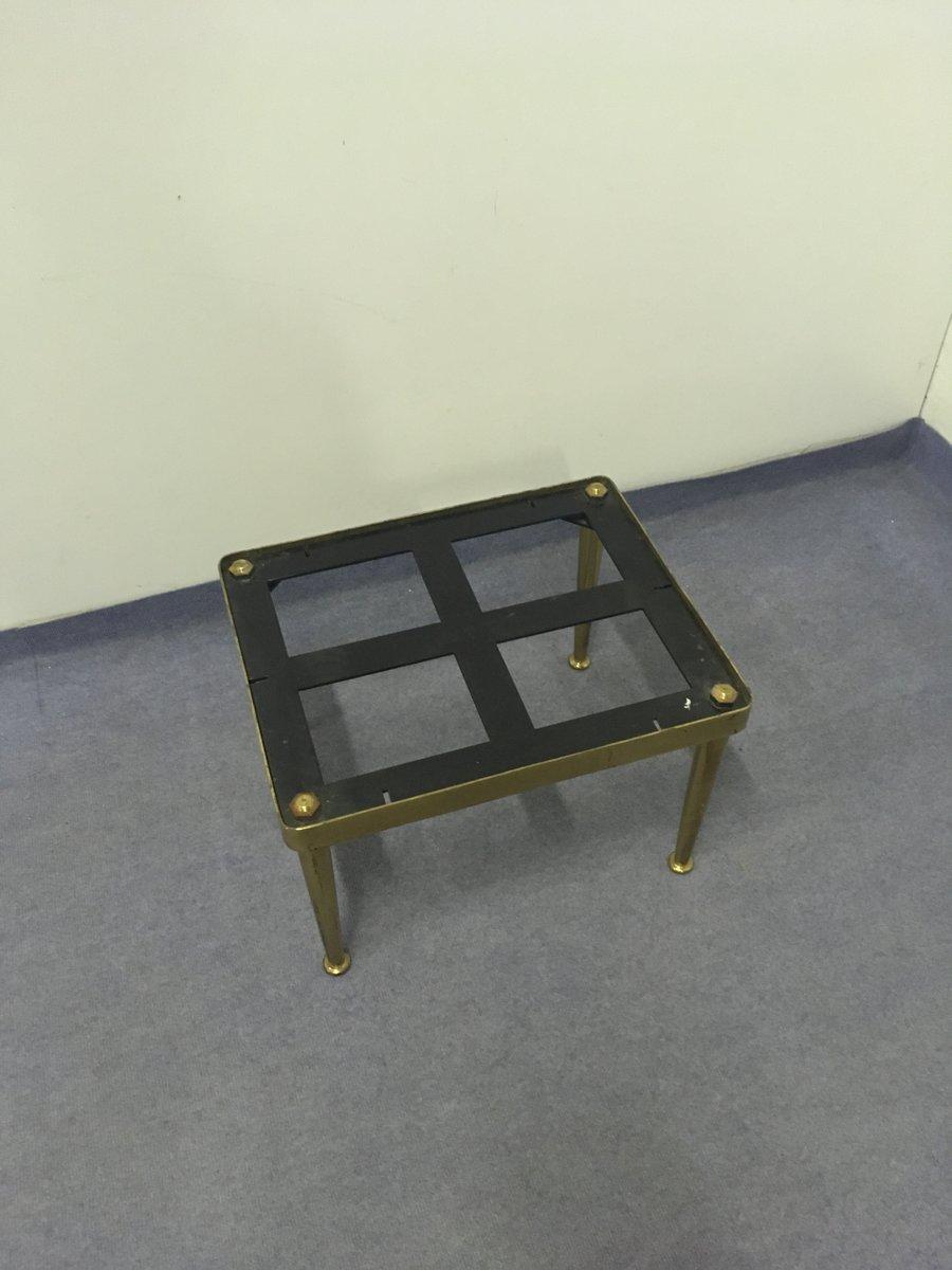 beistelltisch aus marmor bronze 1950er bei pamono kaufen. Black Bedroom Furniture Sets. Home Design Ideas