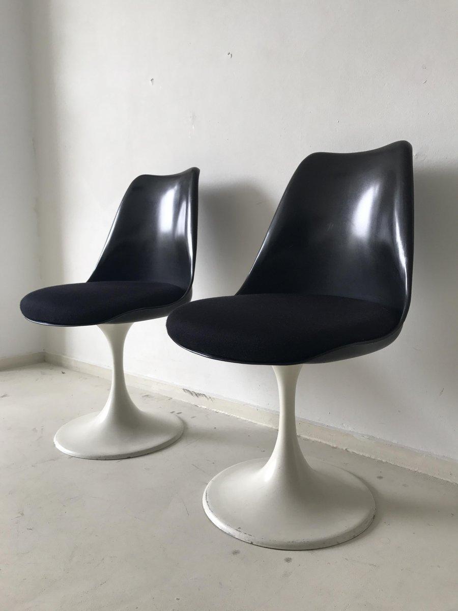 schwarze tulip st hle von eero saarinen f r pastoe 1960er. Black Bedroom Furniture Sets. Home Design Ideas