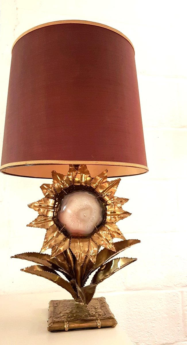 lampe mit messing achat von p mas rossi 1970er bei. Black Bedroom Furniture Sets. Home Design Ideas