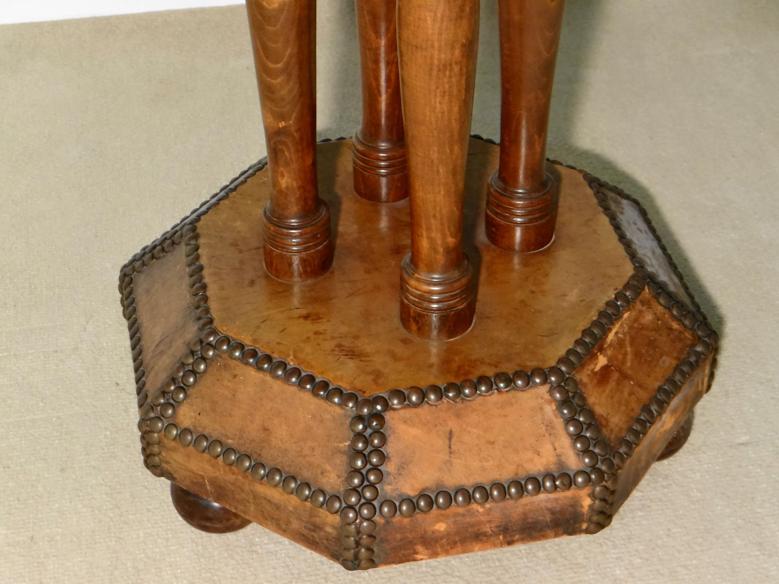 Vintage French Leather Octagon Side Table 6. $1,112.00. Price Per Piece