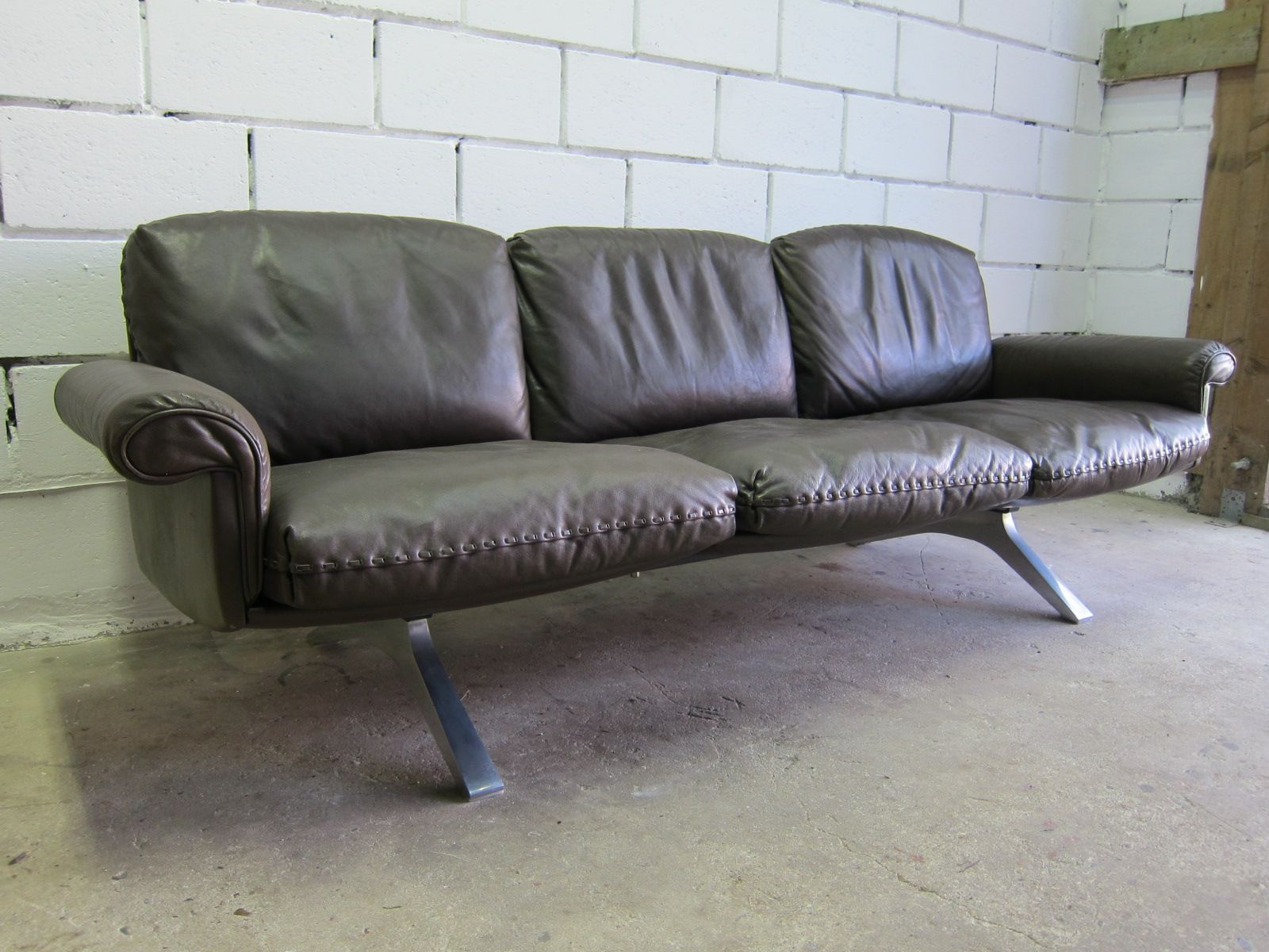 vintage ds 31 3 sitzer sofa drehsessel von de sede bei pamono kaufen. Black Bedroom Furniture Sets. Home Design Ideas