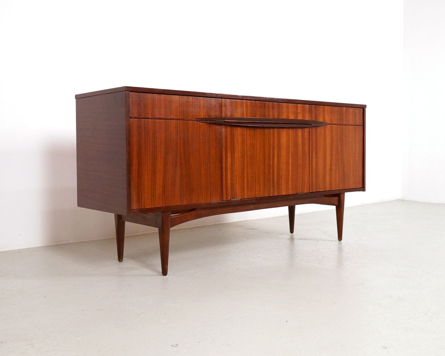 mid century sideboard in dark teak 1960s for sale at pamono. Black Bedroom Furniture Sets. Home Design Ideas