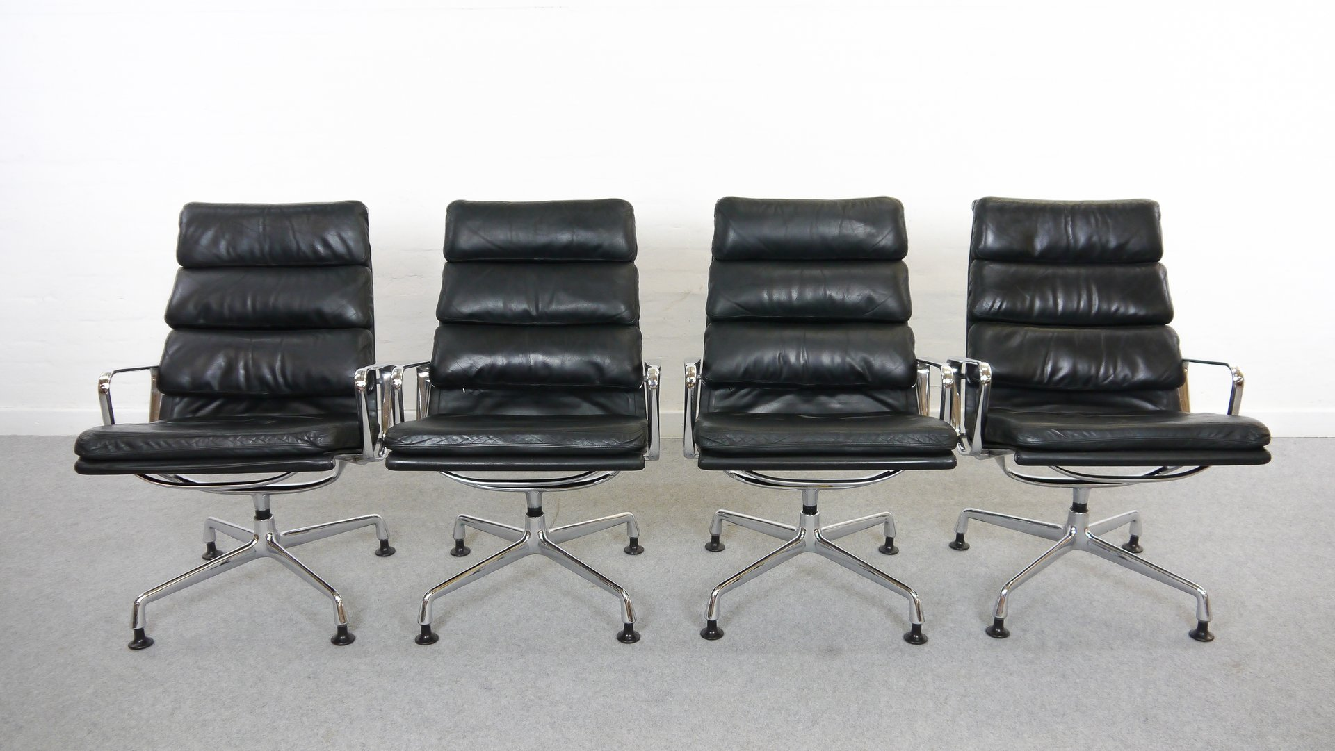 Vintage EA 216 Soft Pad Easy Chairs by Charles Eames for Herman