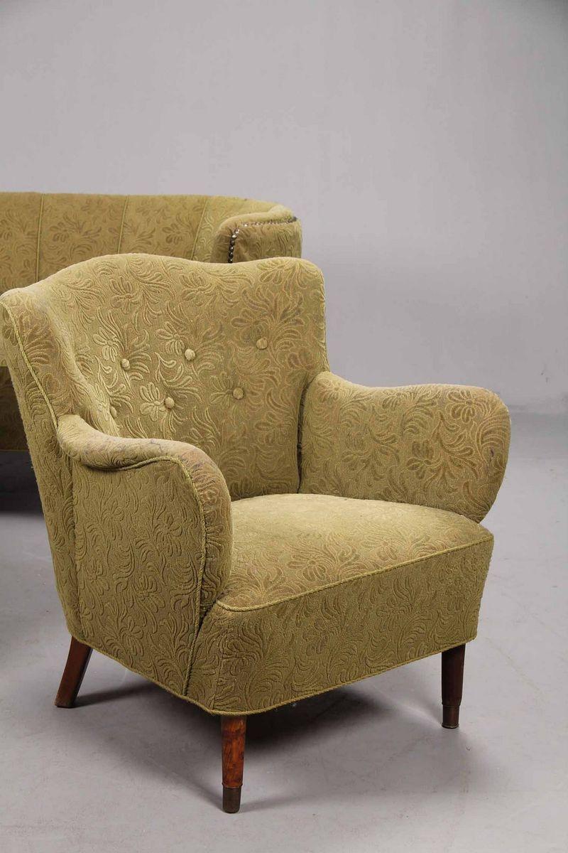 mid century danish living room set en vente sur pamono. Black Bedroom Furniture Sets. Home Design Ideas