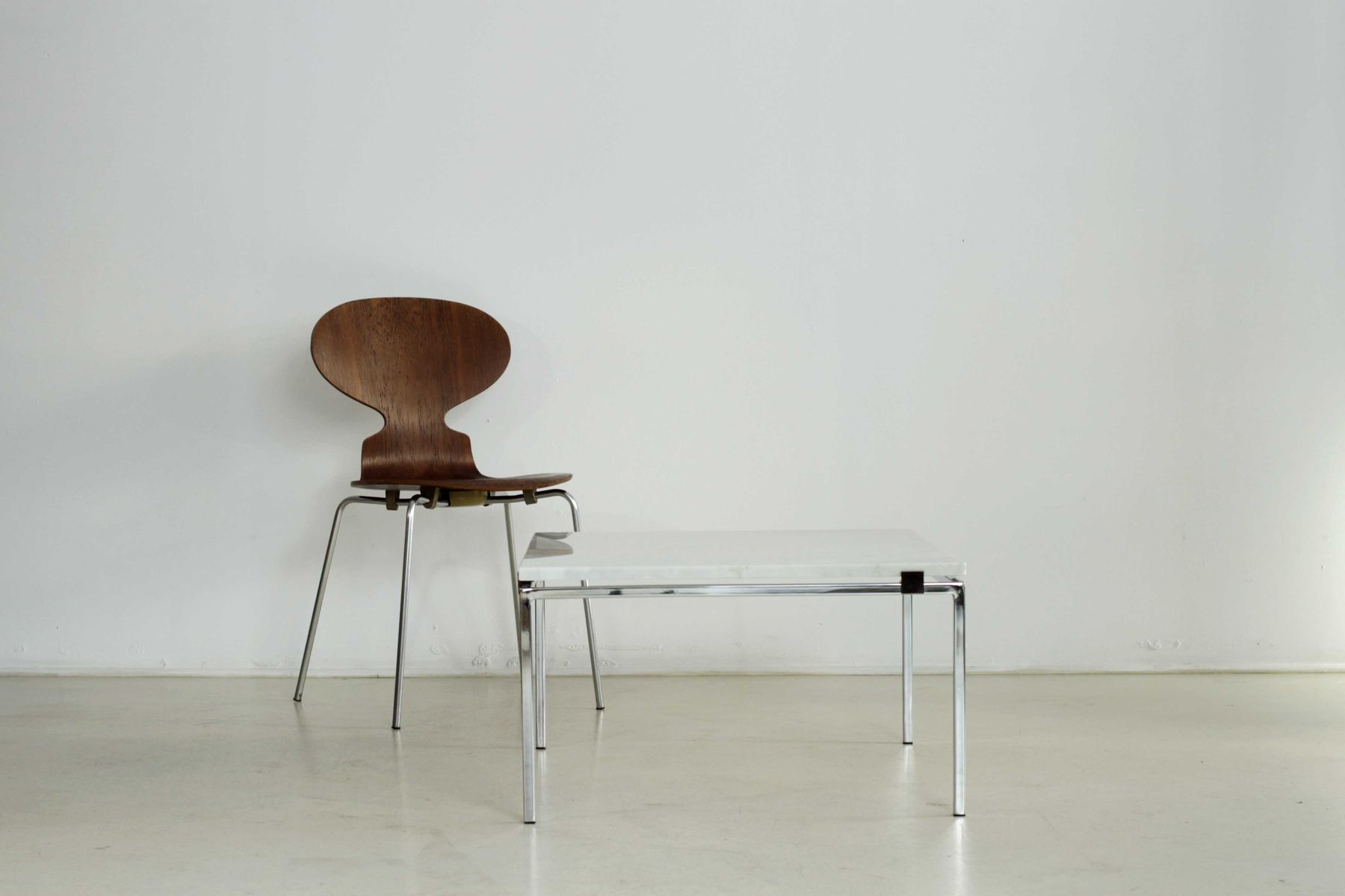 Marble table by alain richard for meubles tv 1950 for sale at pamono - Meuble tv table basse assorti ...