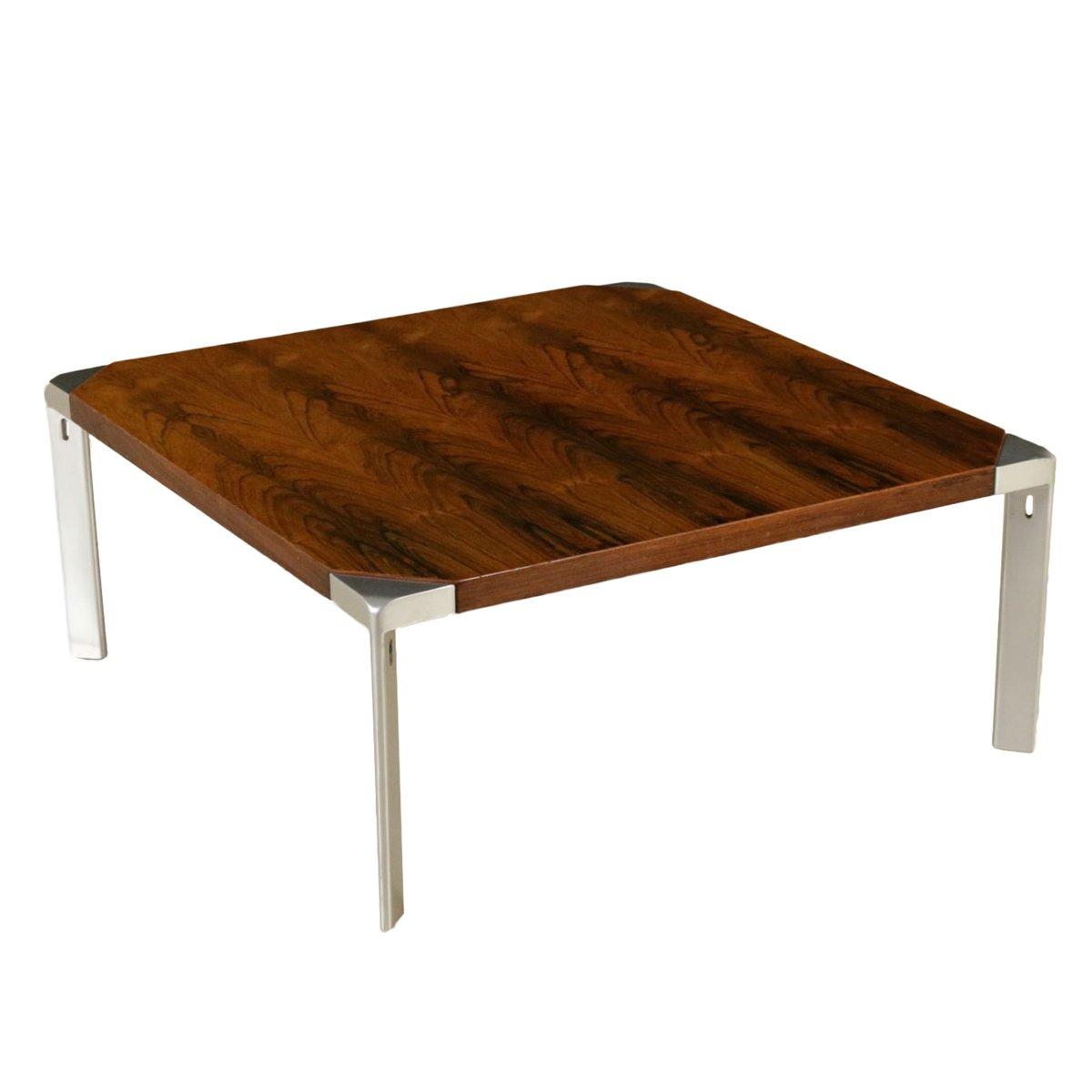 Vintage rosewood veneer chromed metal coffee table by osvaldo vintage rosewood veneer chromed metal coffee table by osvaldo borsani for tecno geotapseo Image collections