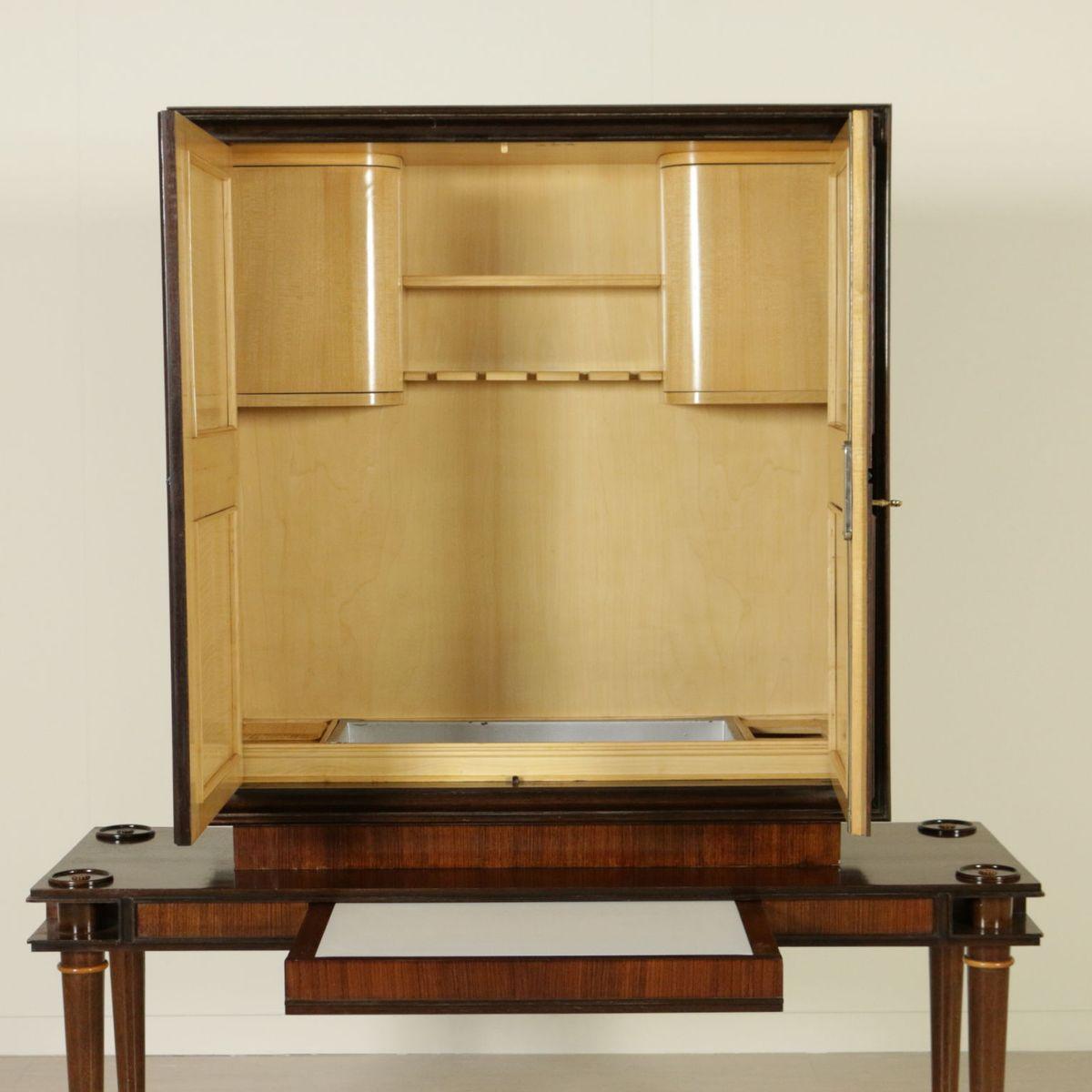 barschrank aus opalglas palisander furnier 1950er bei pamono kaufen. Black Bedroom Furniture Sets. Home Design Ideas