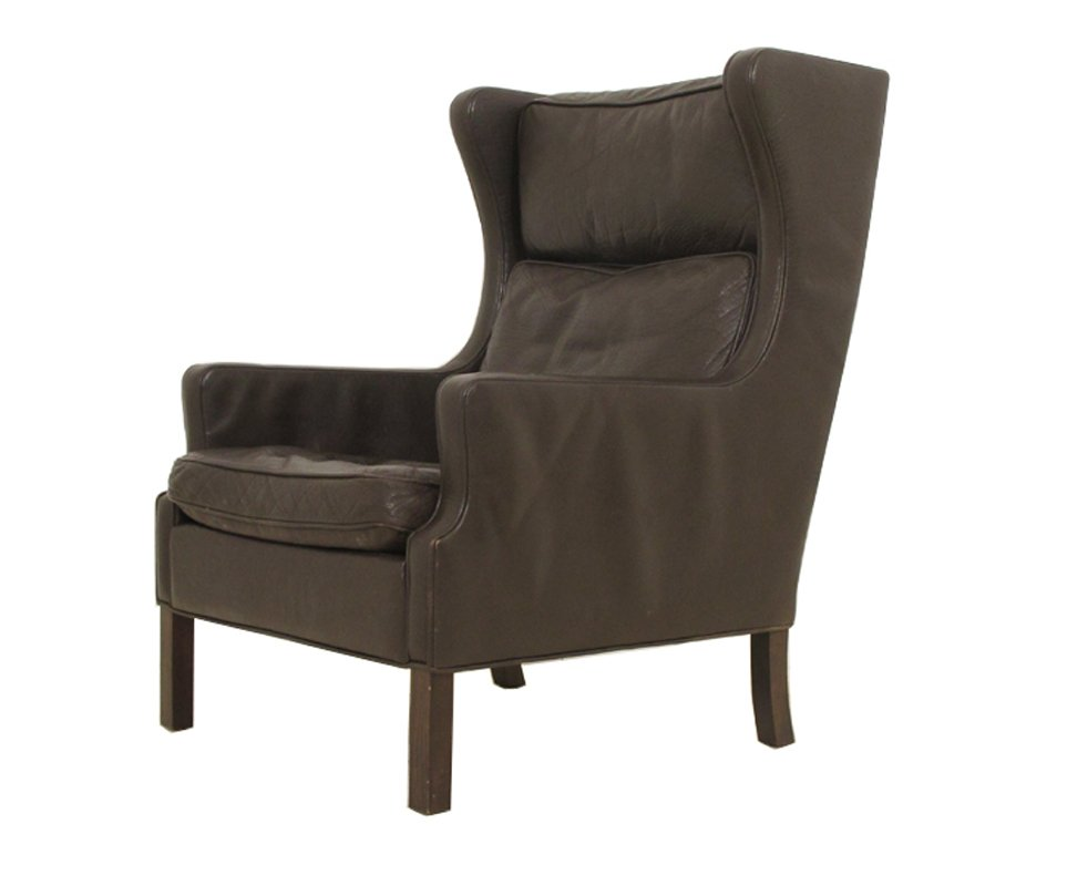 Ohrensessel moderne form  Vintage Danish Wingback Chair from Grant Møbelfabrik for sale at ...