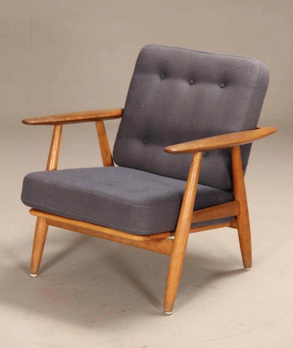 ge 240 cigar sessel aus eichenholz von hans j wegner f r. Black Bedroom Furniture Sets. Home Design Ideas