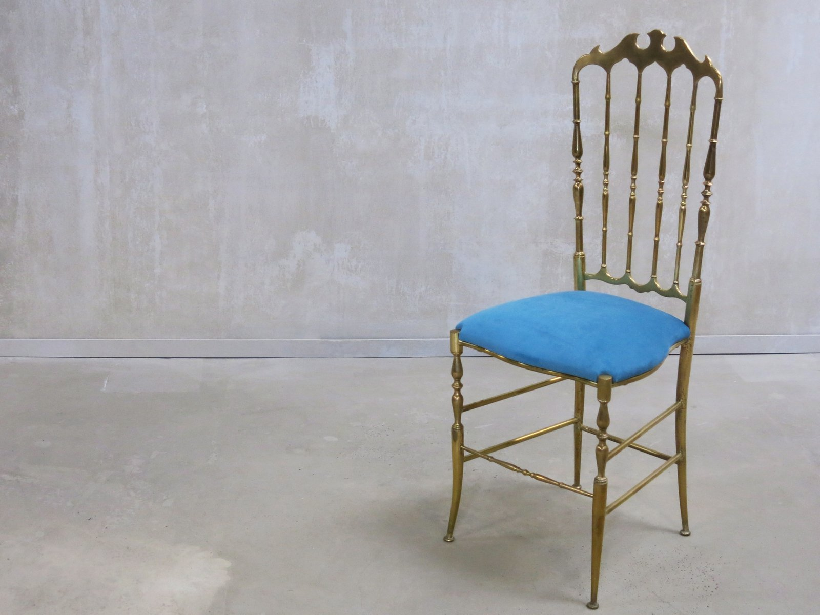Vintage Italian Chiavari Chair with High Back 1950s for sale at
