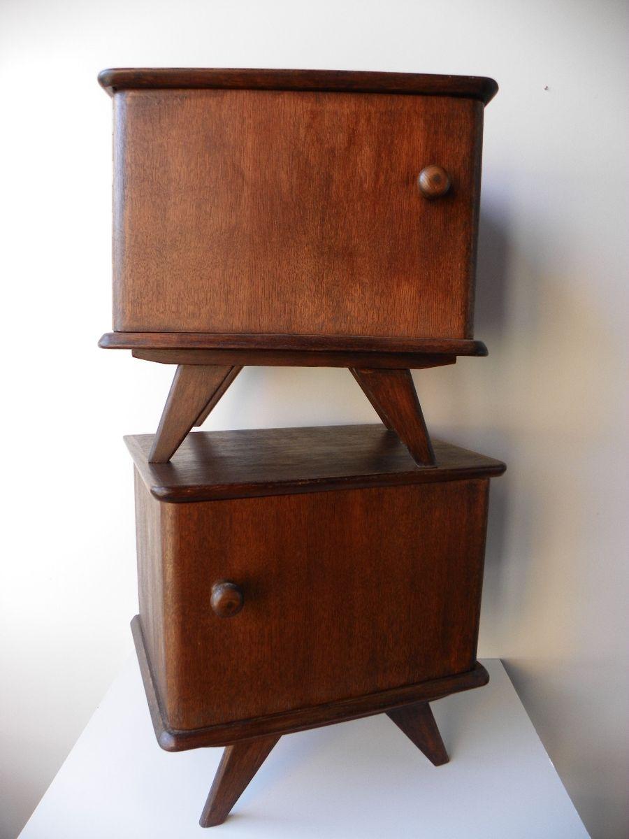 vintage nightstands set of 2 for sale at pamono. Black Bedroom Furniture Sets. Home Design Ideas