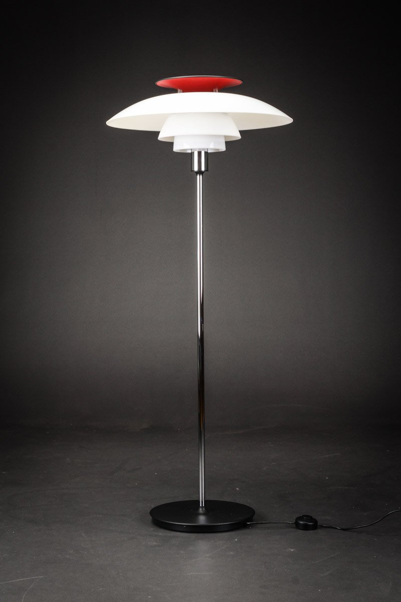 ph 80 floor lamp by poul henningsen for louis poulsen 1987 for sale at pamono. Black Bedroom Furniture Sets. Home Design Ideas