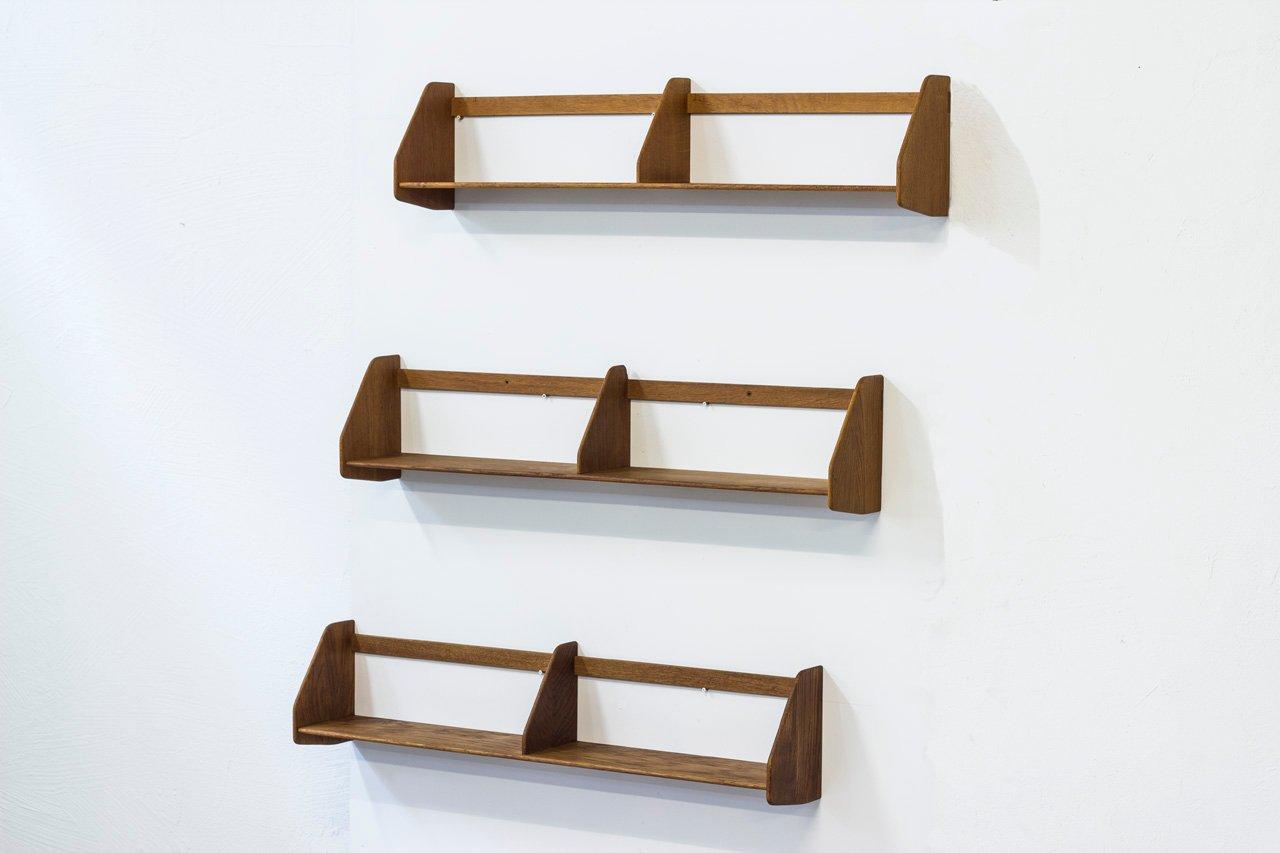 Scandinavian modern wall shelves by hans j wegner for ry mbler scandinavian modern wall shelves by hans j wegner for ry mbler set of 3 for sale at pamono amipublicfo Images
