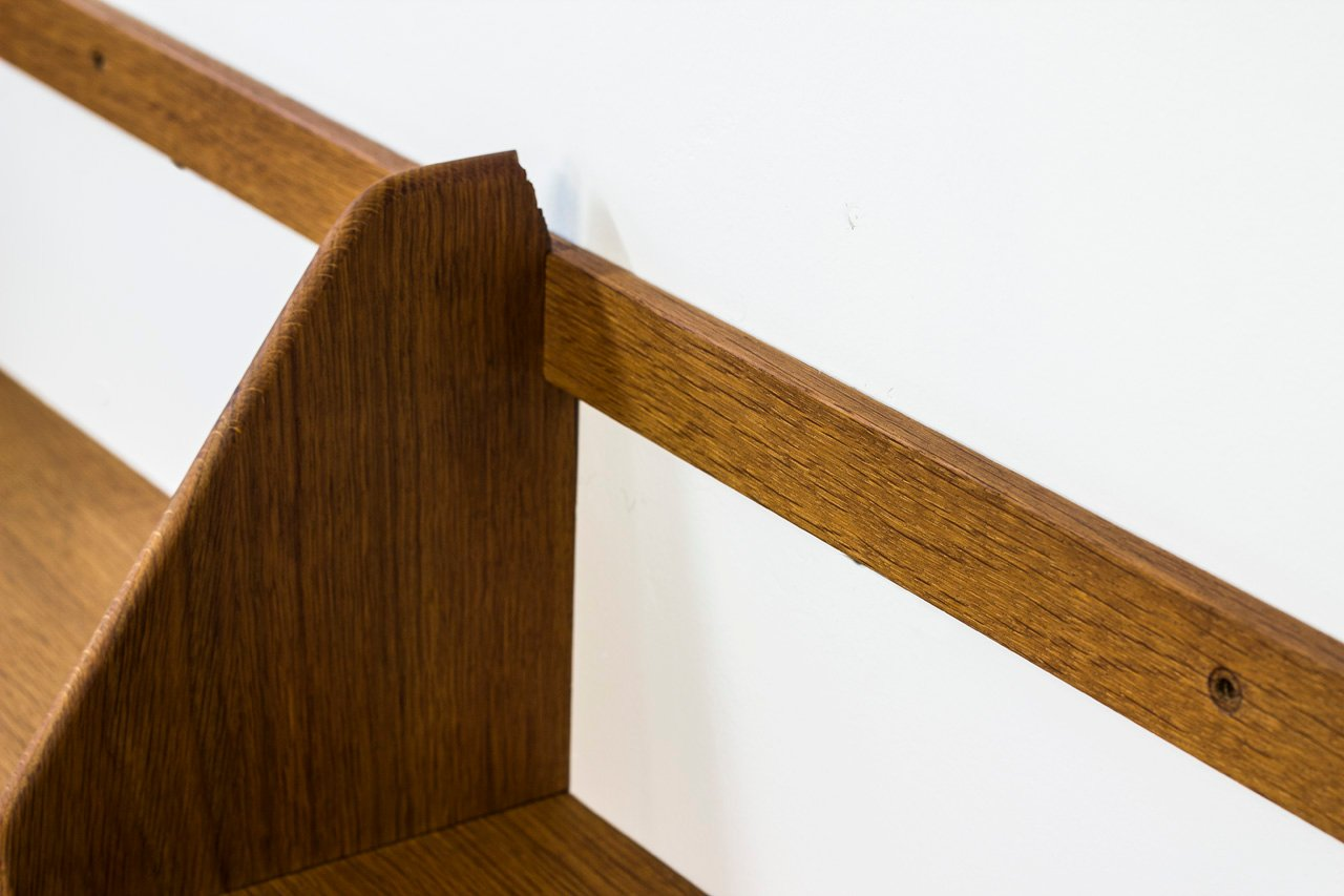 skandinavische moderne wandregale von hans j wegner f r ry m bler 3er set bei pamono kaufen. Black Bedroom Furniture Sets. Home Design Ideas