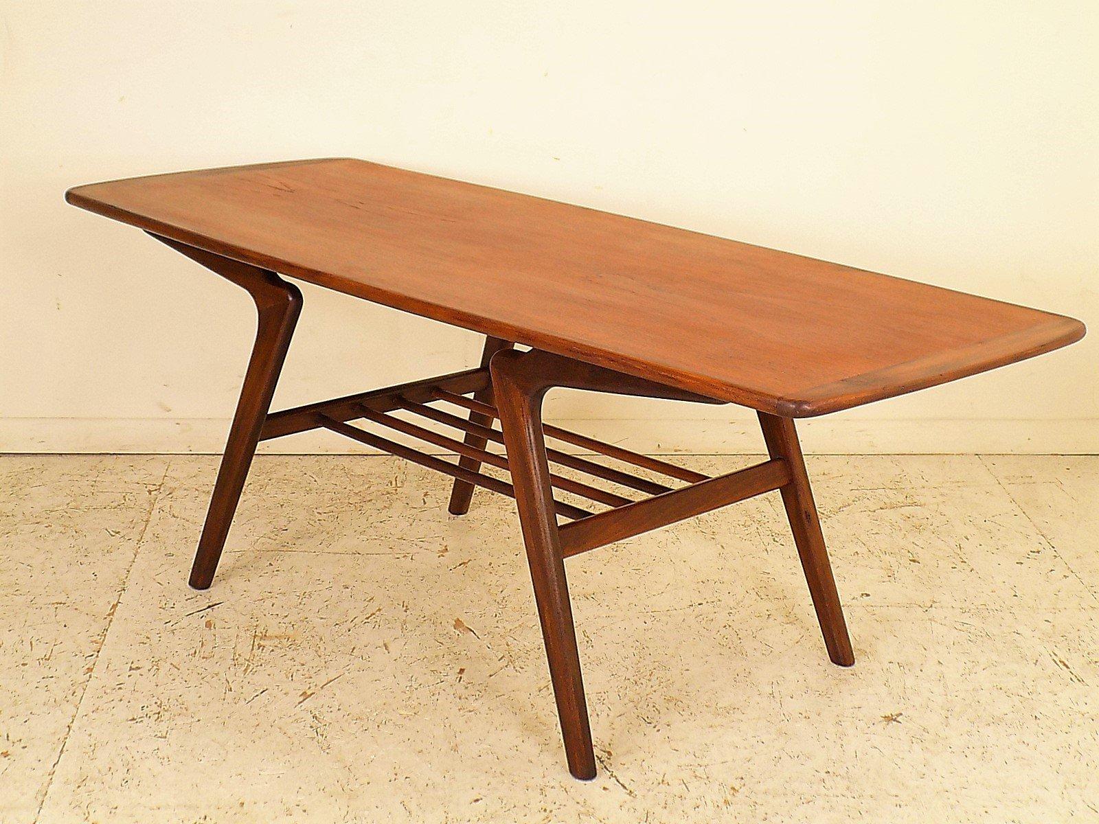 Danish teak coffee table 1960s for sale at pamono danish teak coffee table 1960s 13 on hold geotapseo Images