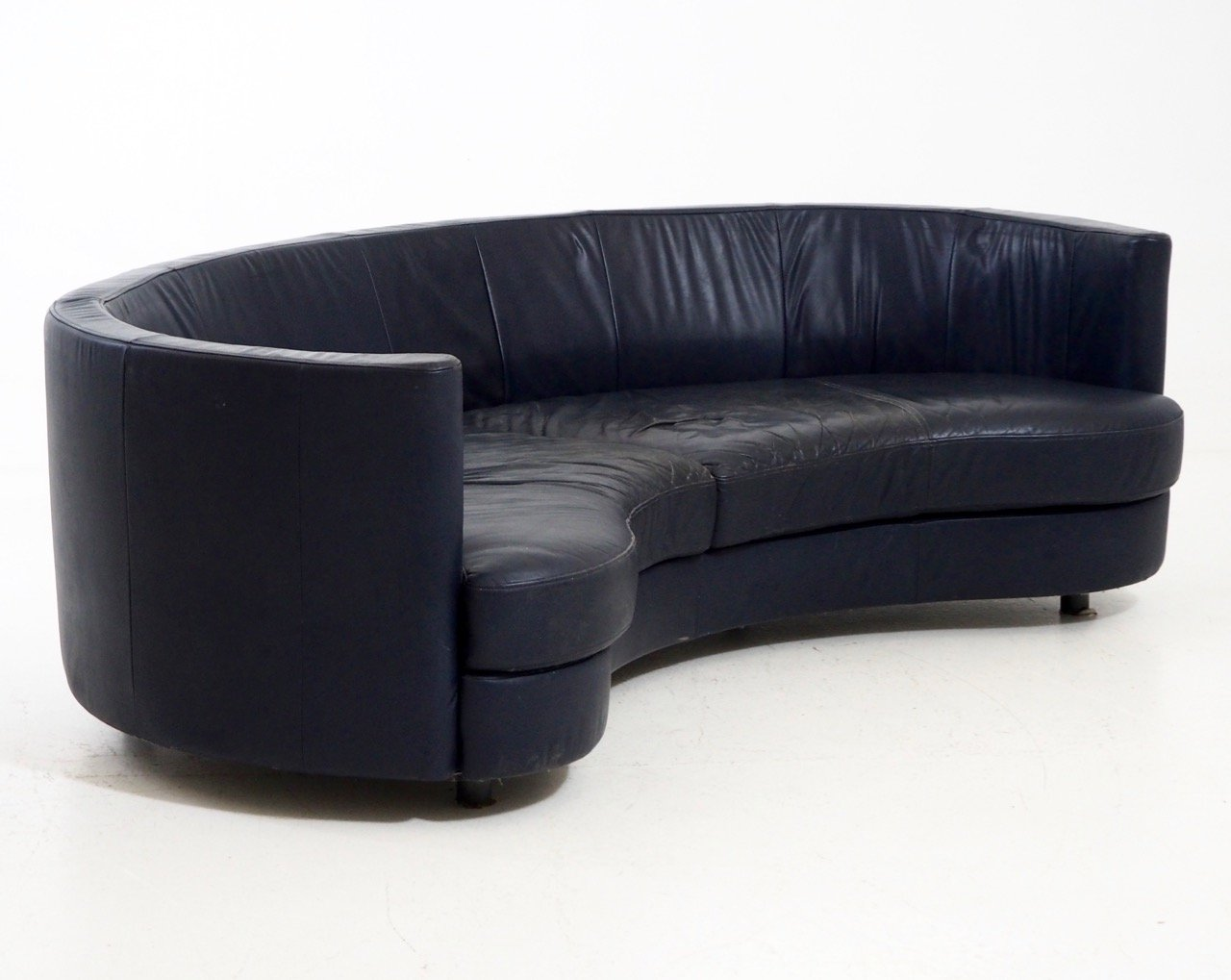 vintage sofa in leather by rolf benz 1960s for sale at pamono. Black Bedroom Furniture Sets. Home Design Ideas