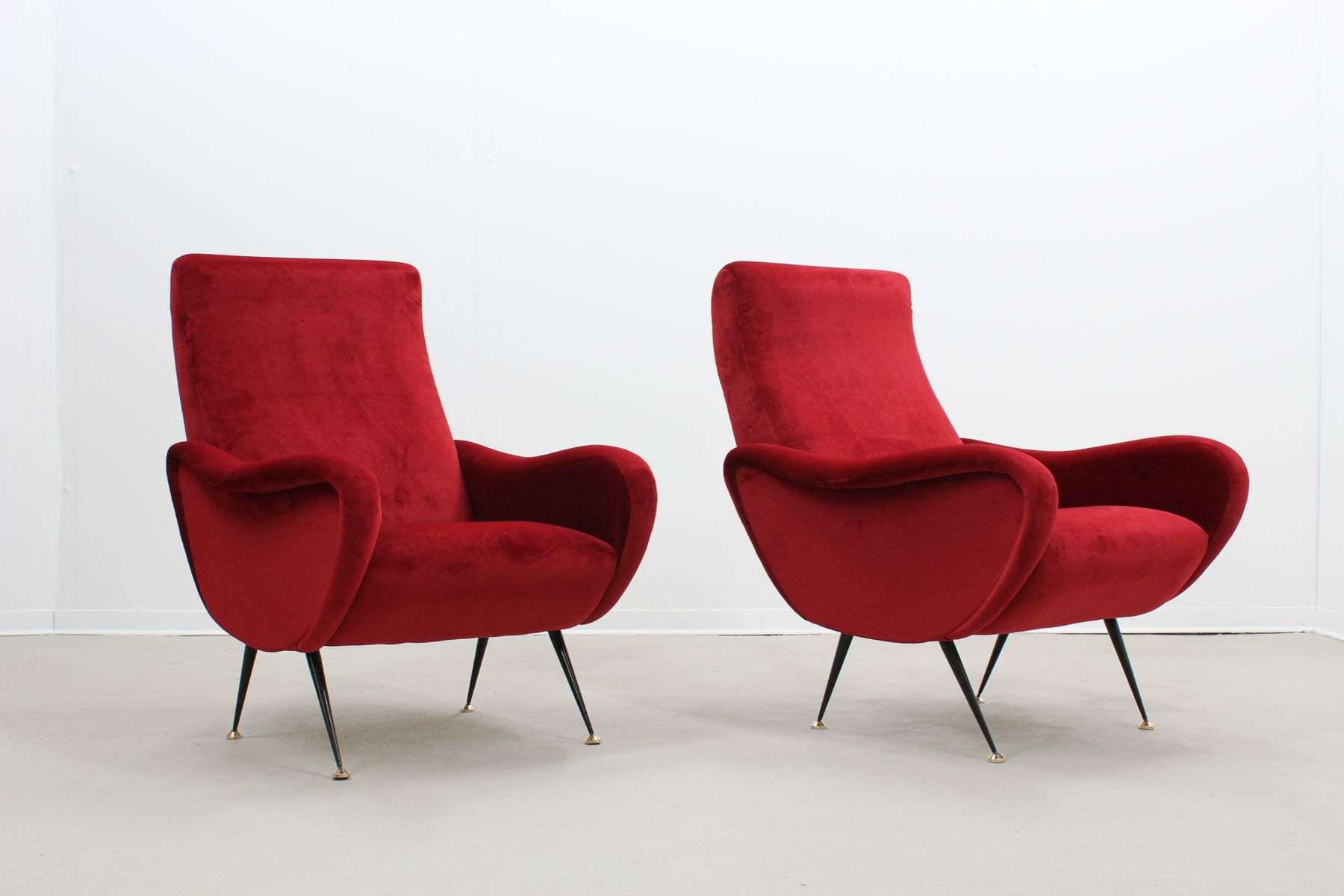 mid century italian armchairs from flexform set of 2 en vente sur pamono. Black Bedroom Furniture Sets. Home Design Ideas
