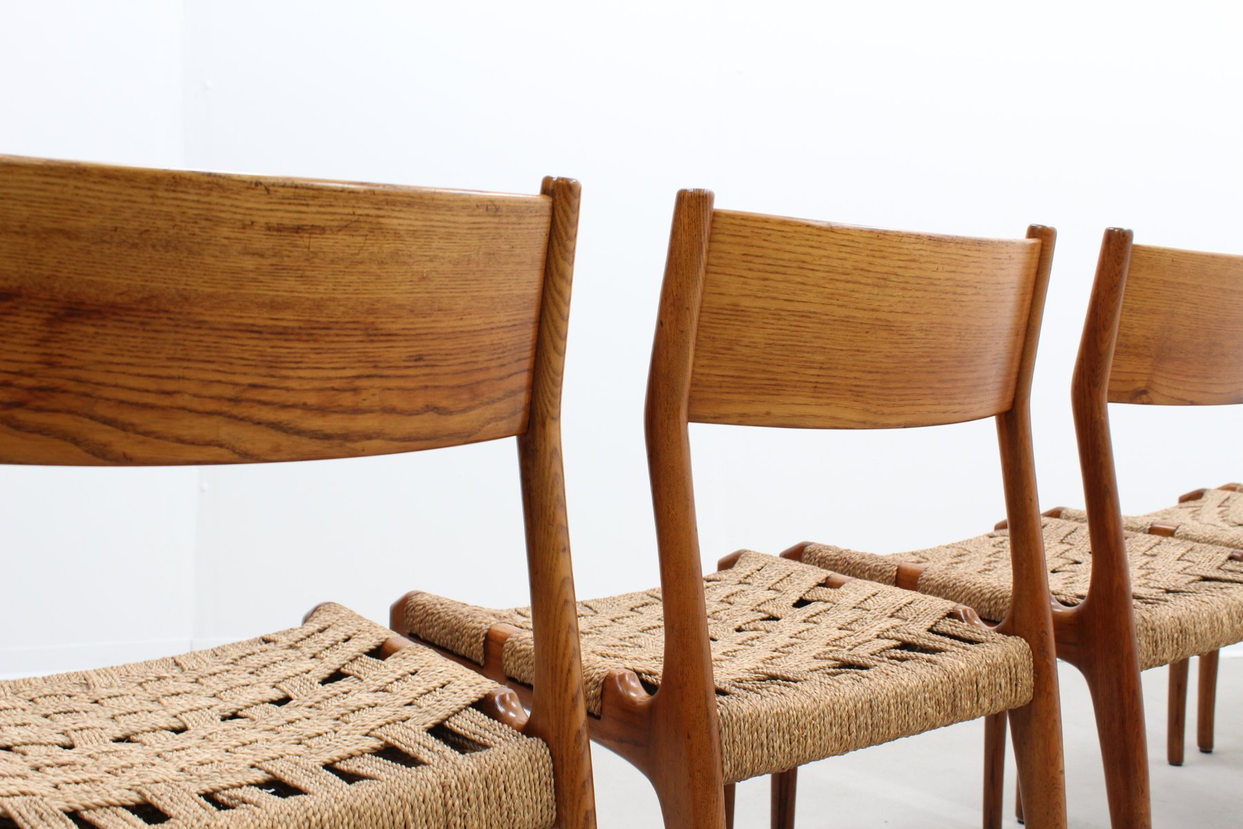 Mid Century Rope Dining Chairs from Fratelli Reguitti Set of 5